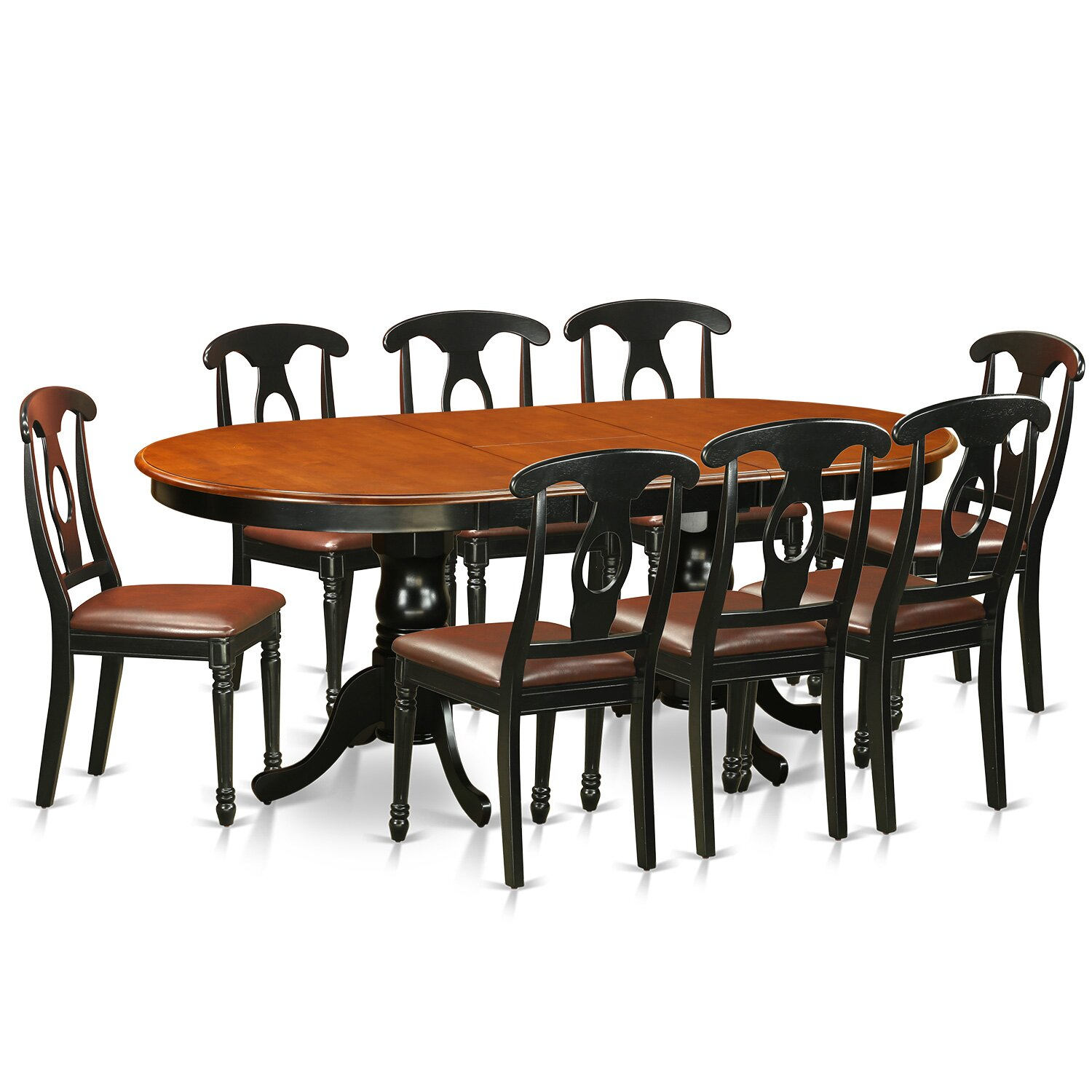 East west plainville 9 piece dining set reviews wayfair for Dining room furniture 9 piece