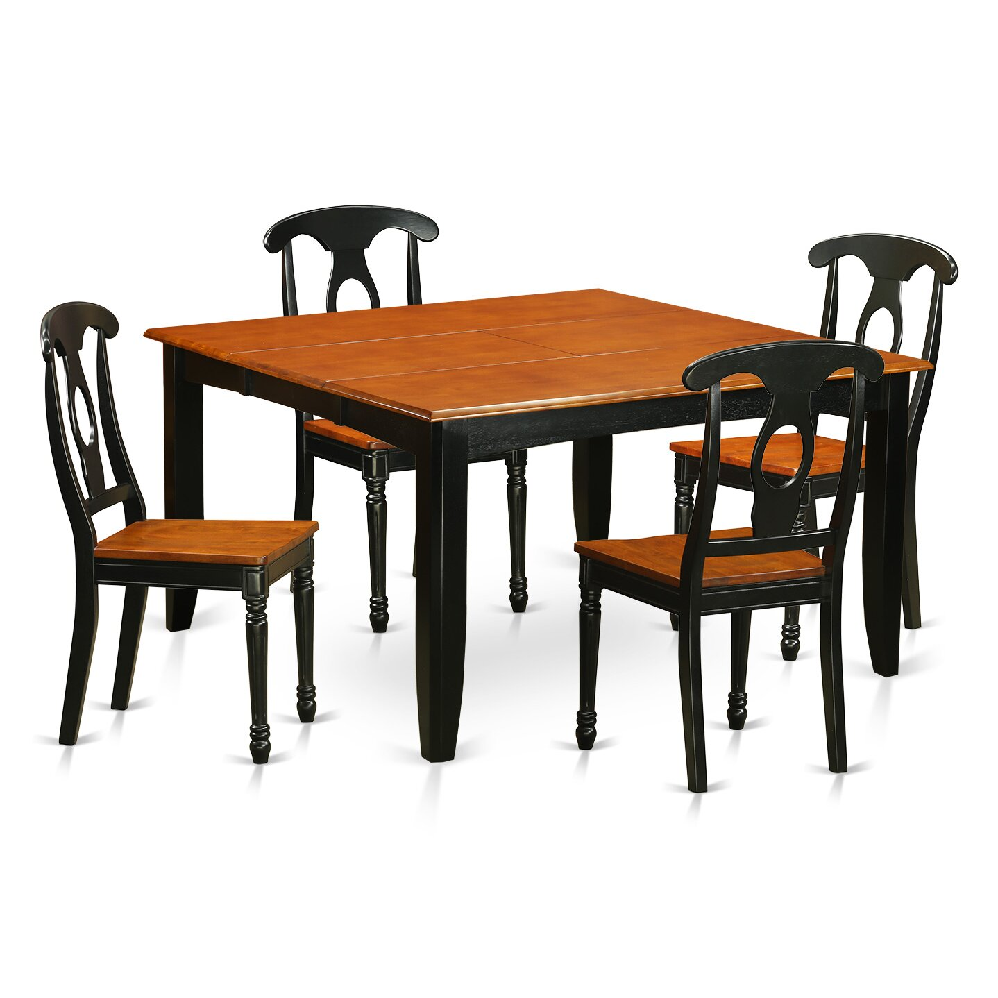 East west parfait 5 piece dining set reviews wayfair for Dining room sets 4 chairs