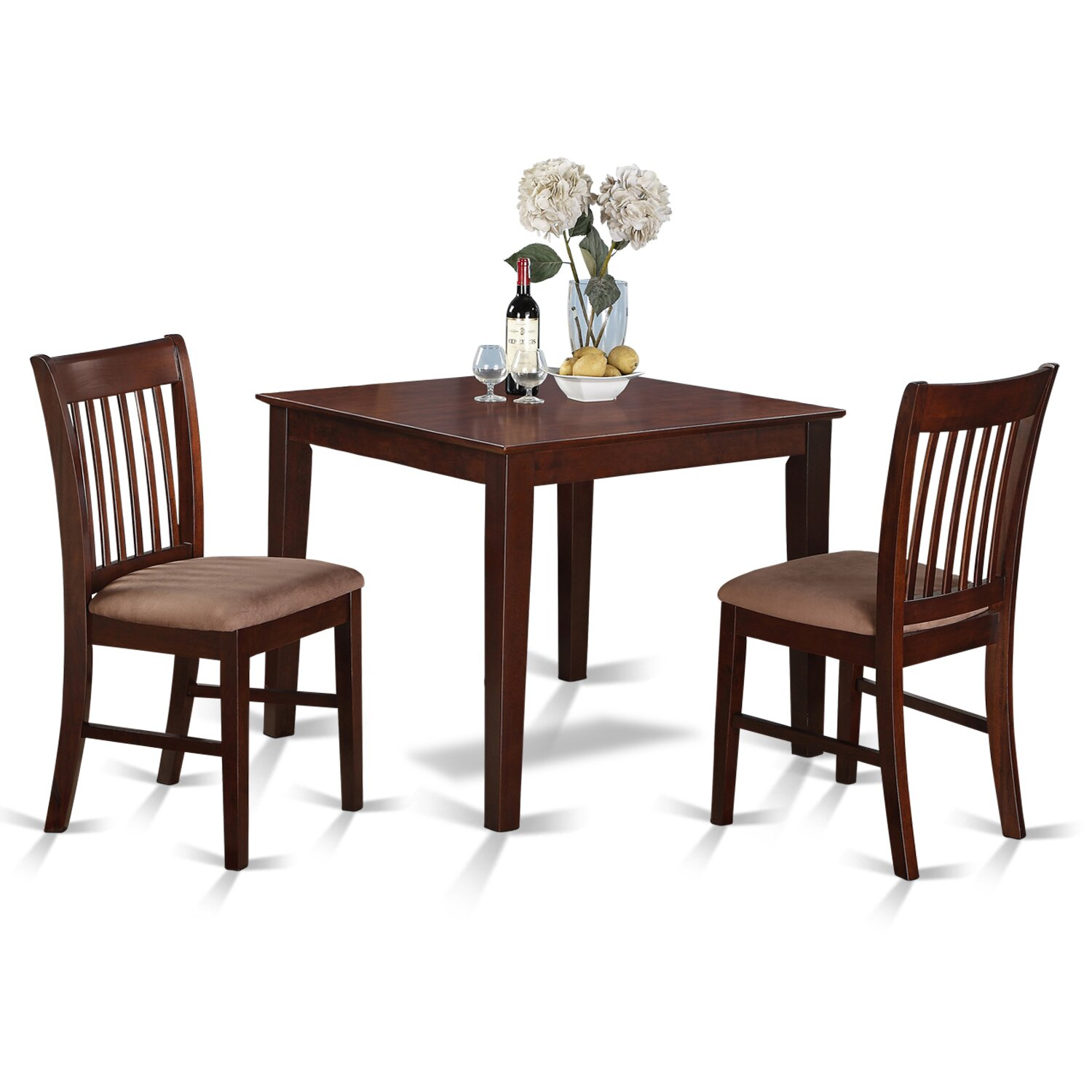 east west oxford 3 piece dining set reviews wayfair. Black Bedroom Furniture Sets. Home Design Ideas