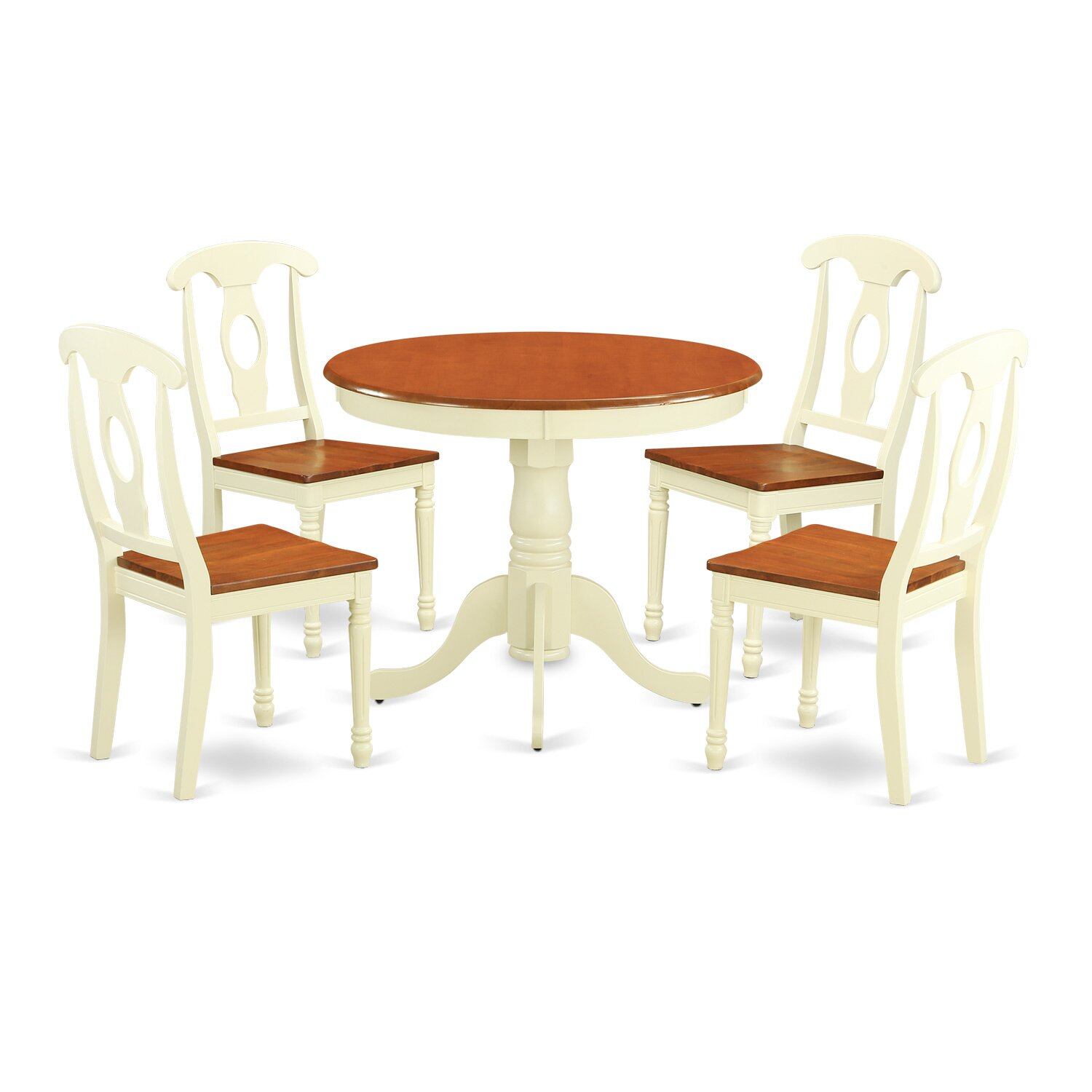 East west 5 piece dining set wayfair for Small kitchen table with 4 chairs