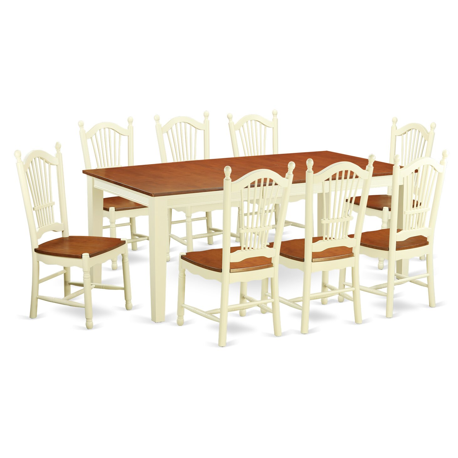 9 Piece Dining Table Set For 8 Dining Room Table With 8: East West Quincy 9 Piece Dining Set
