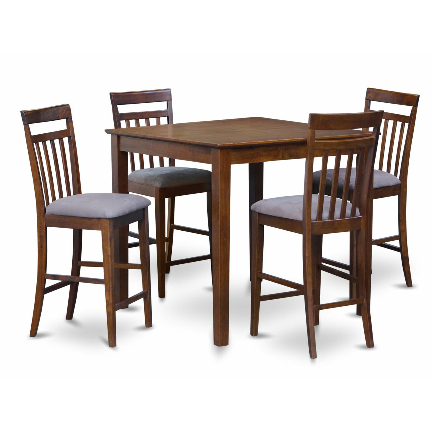 East West 5 Piece Counter Height Pub Table Set