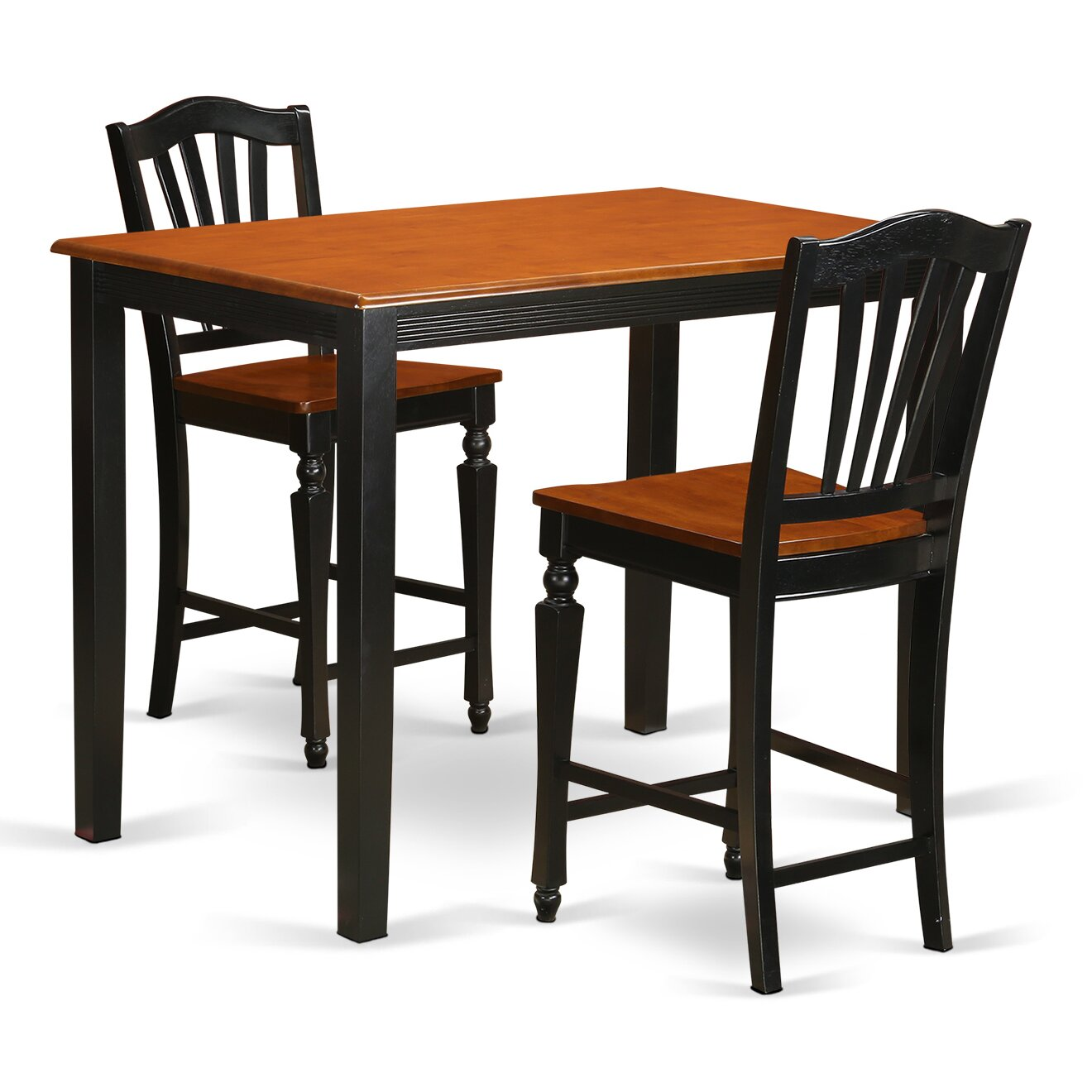 East West Yarmouth 3 Piece Counter Height Pub Table Set