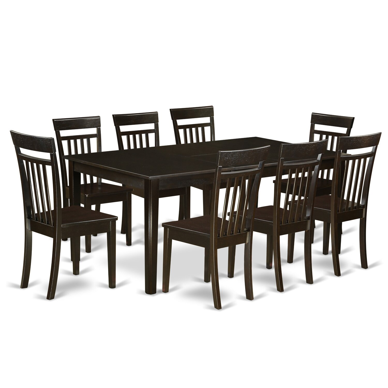 East west henley 9 piece dining set reviews wayfair for 9 piece dining room sets square