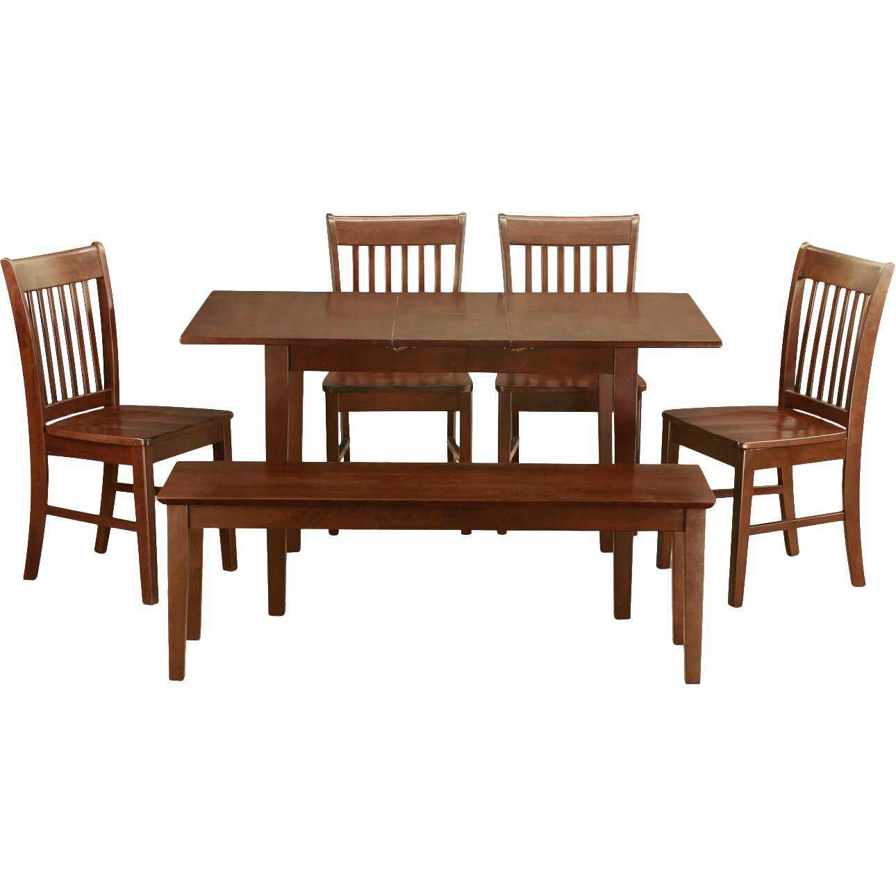 East west norfolk 6 piece dining set reviews wayfair for Dining room sets 6 piece