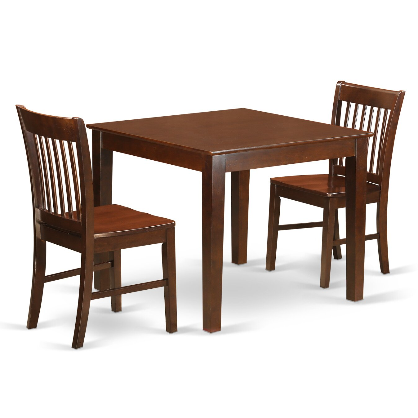 East West Oxford 3 Piece Dining Set
