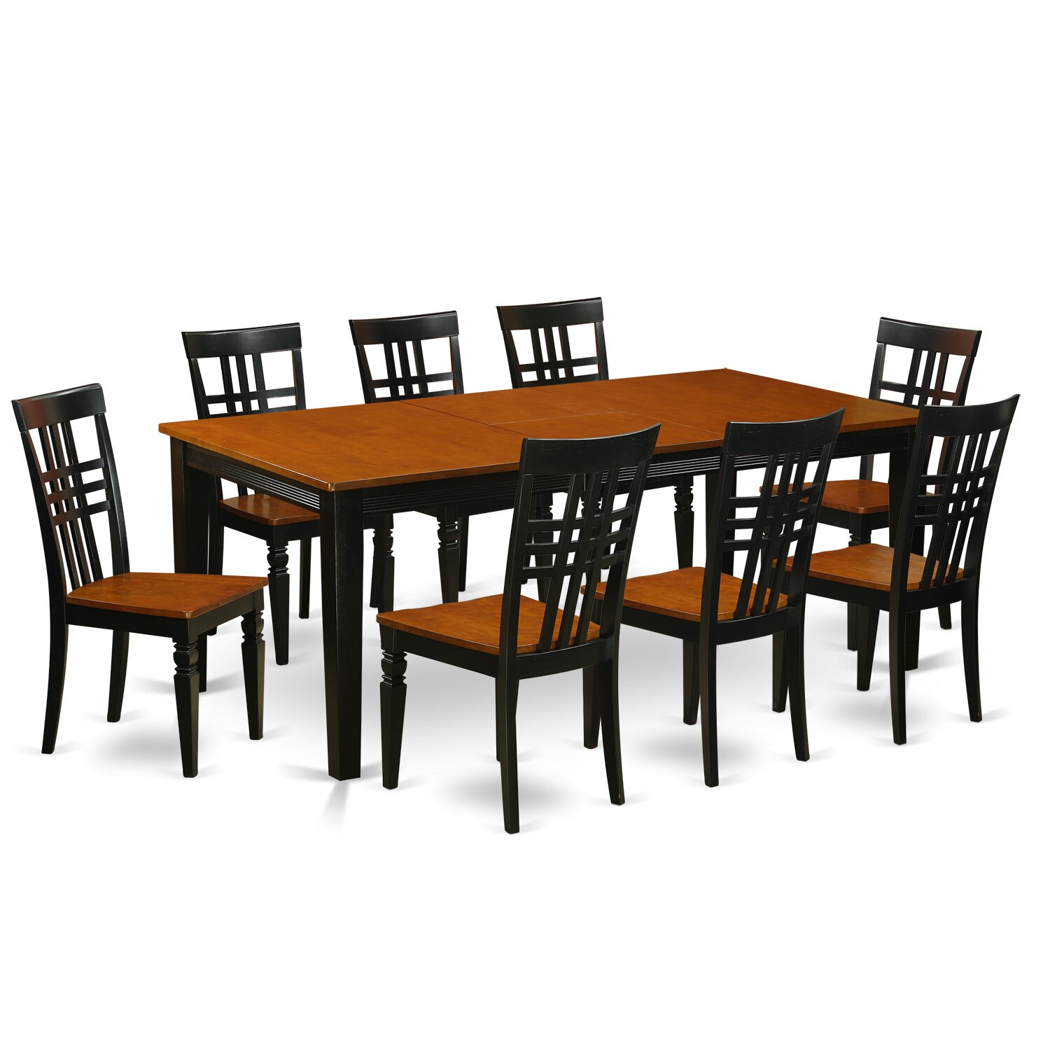 East West 9 Piece Dining Set