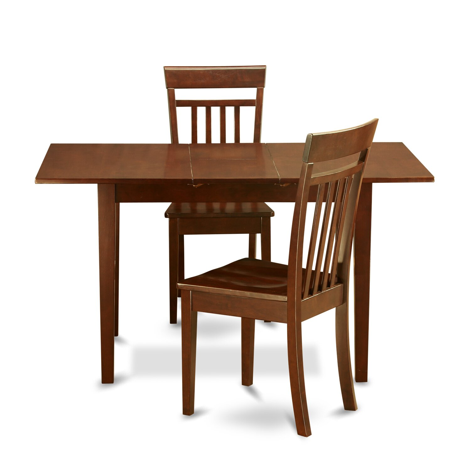 East west norfolk 3 piece dining set reviews wayfair for 2 piece dining room set