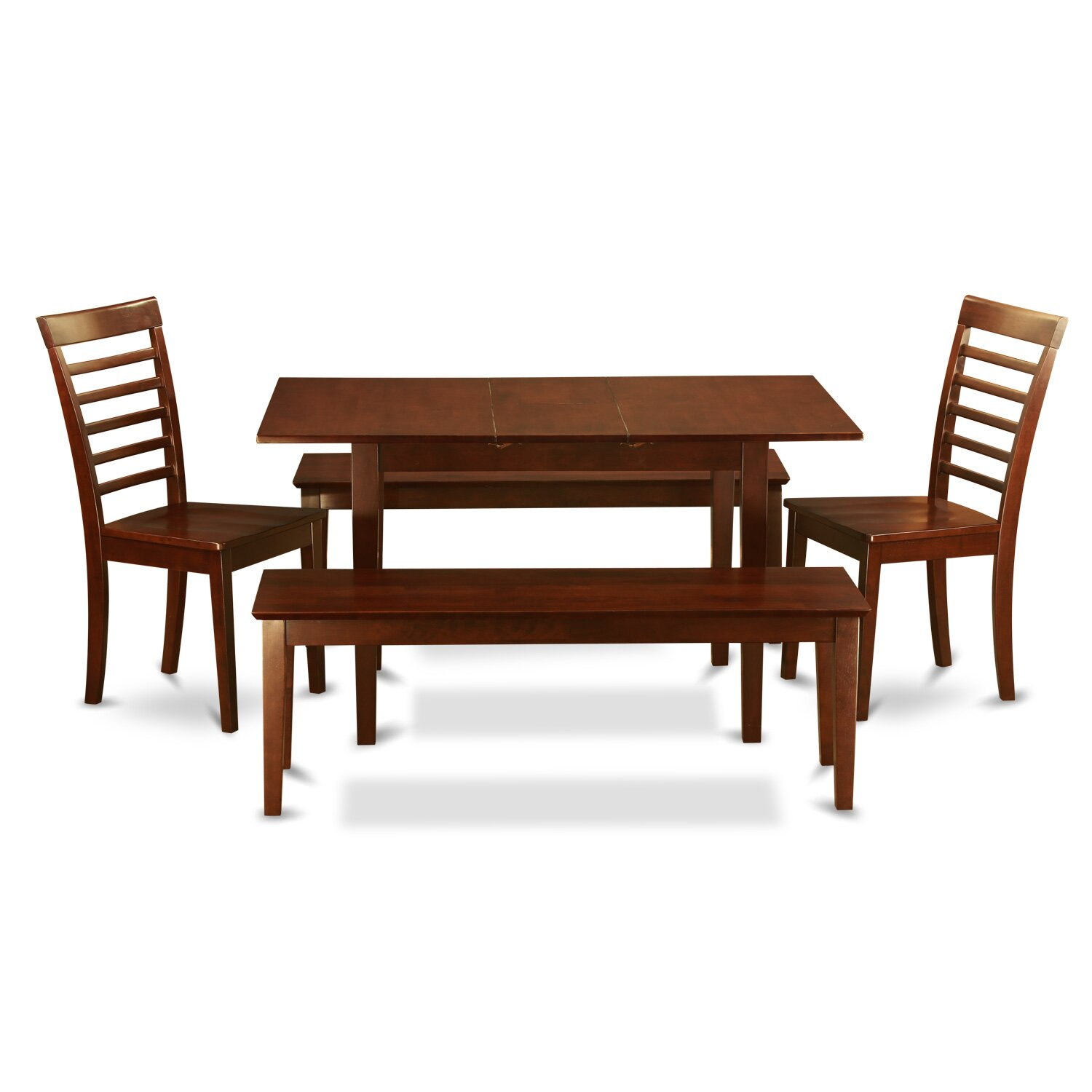 East west norfolk 5 piece dining set reviews wayfair for Furniture 2 day shipping