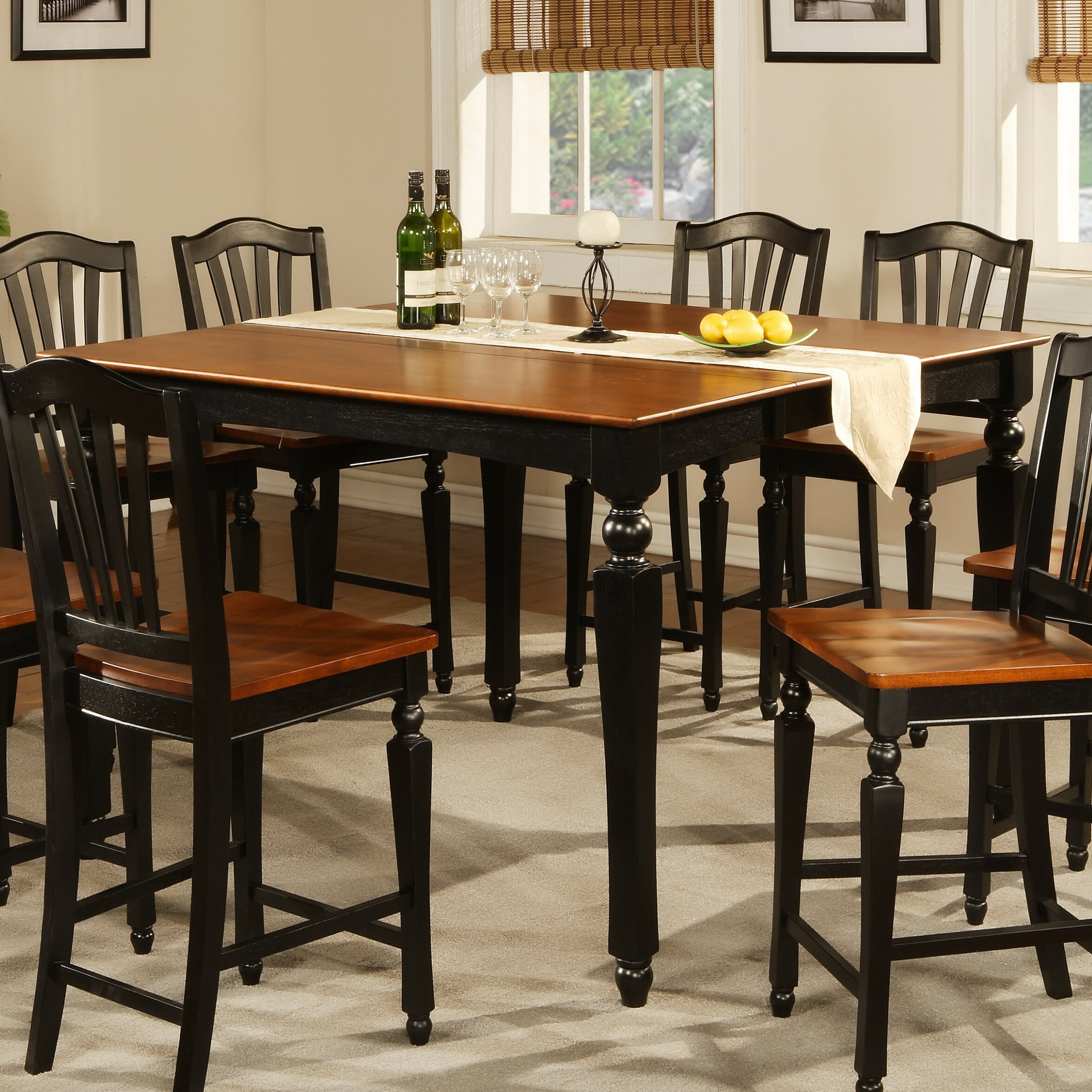 East west chelsea 7 piece dining set reviews for 9 piece dining room sets square