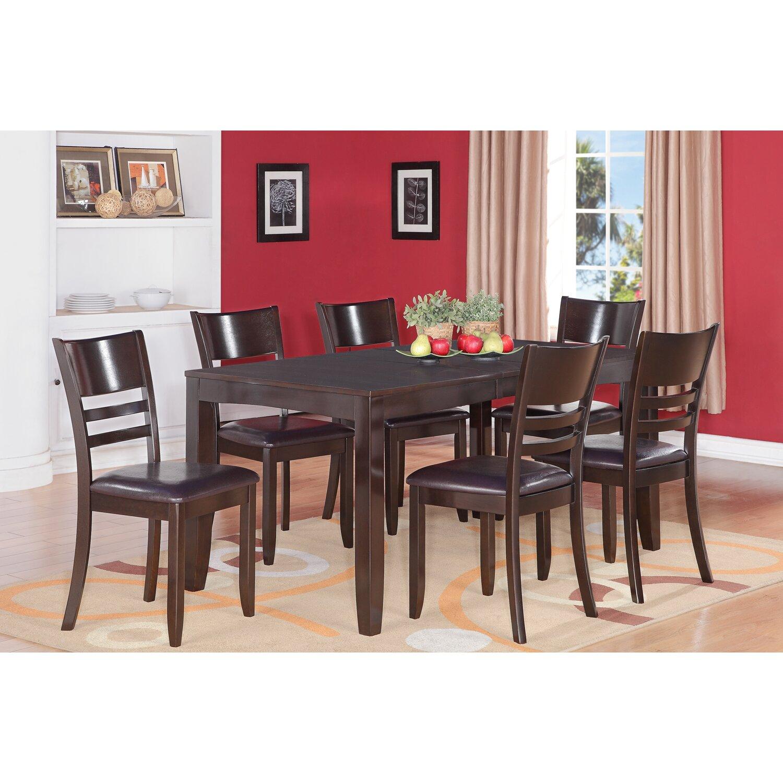 Wooden Importers Avon 7 Piece Dining Set: Wooden Importers Lynfield 7 Piece Dining Set & Reviews