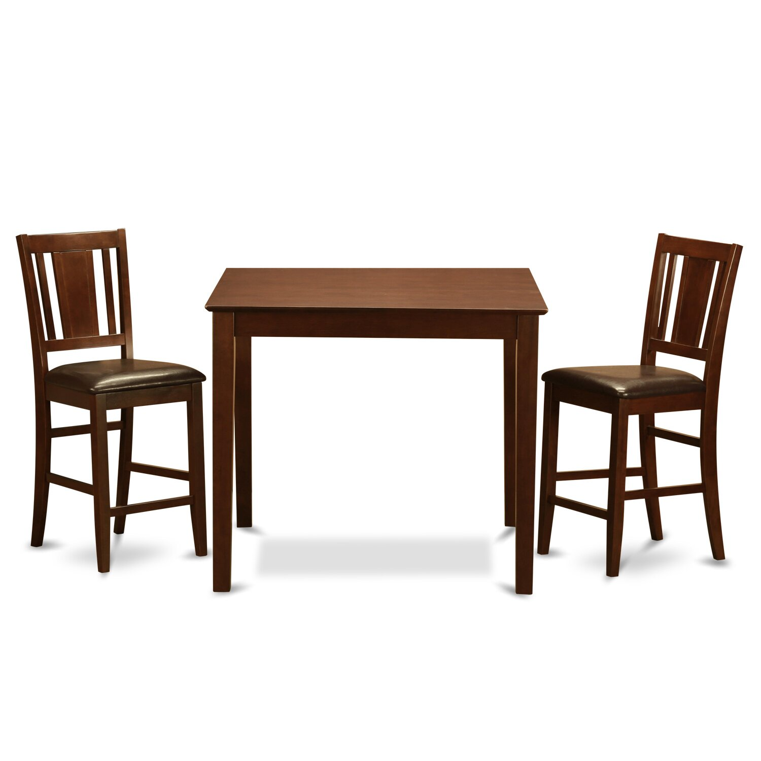 Wooden Importers 3 Piece Counter Height Pub Table Set