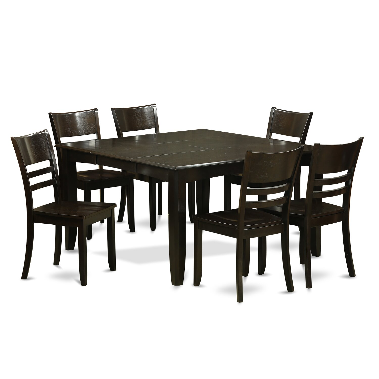 Wooden Importers Lynfield 6 Piece Dining Set: Wooden Importers Parfait 7 Piece Dining Set