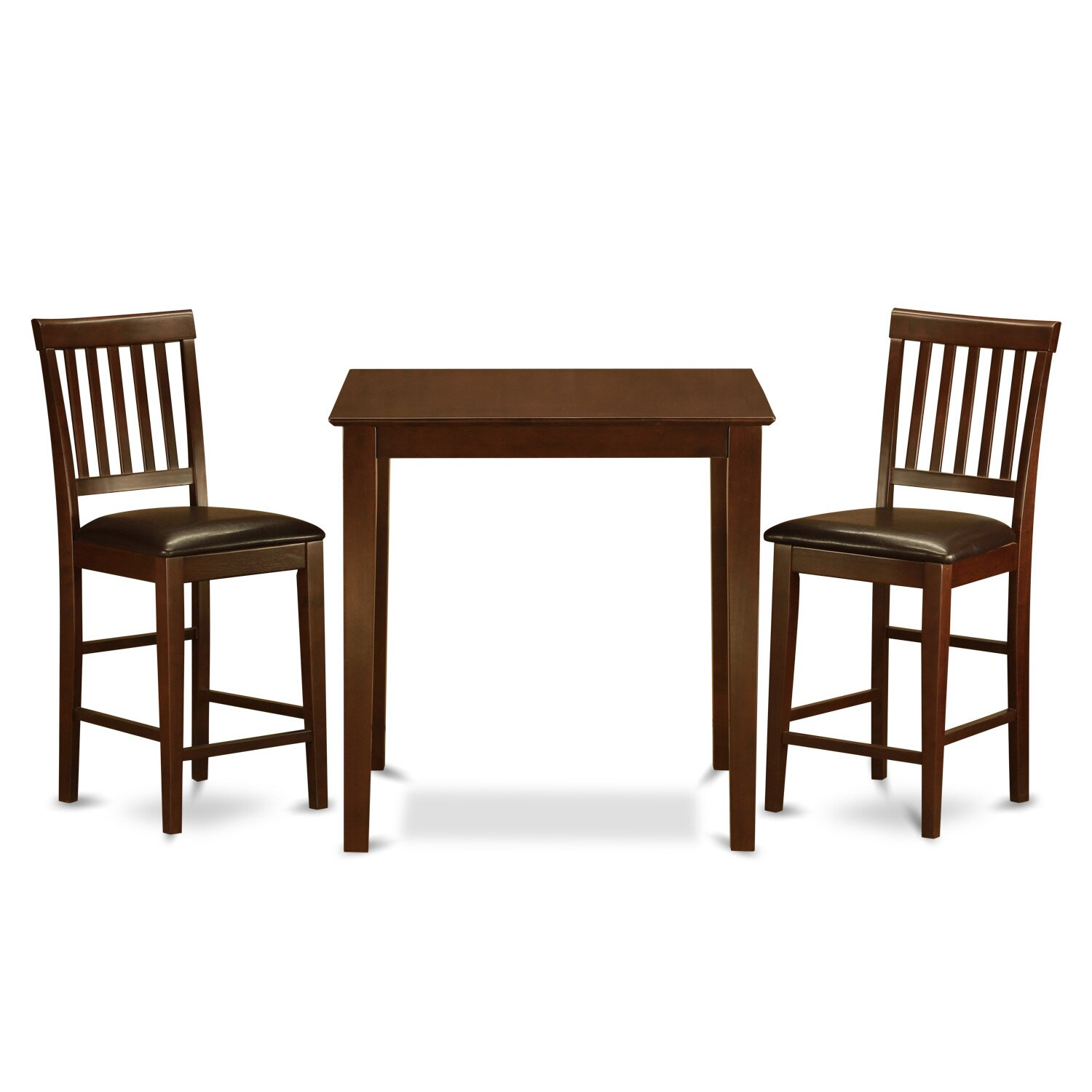 wooden importers vernon 3 piece counter height dining set reviews wayfair. Black Bedroom Furniture Sets. Home Design Ideas