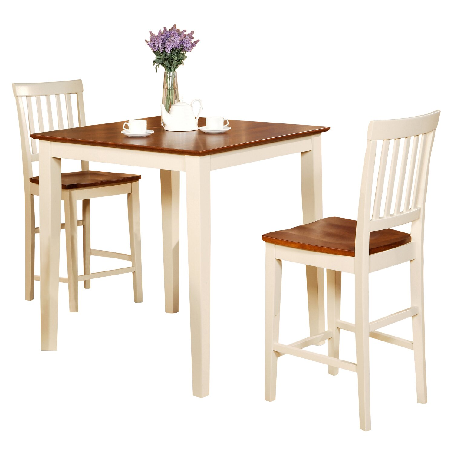 Wooden Importers Vernon 3 Piece Counter Height Dining Set & Reviews | Wayfair