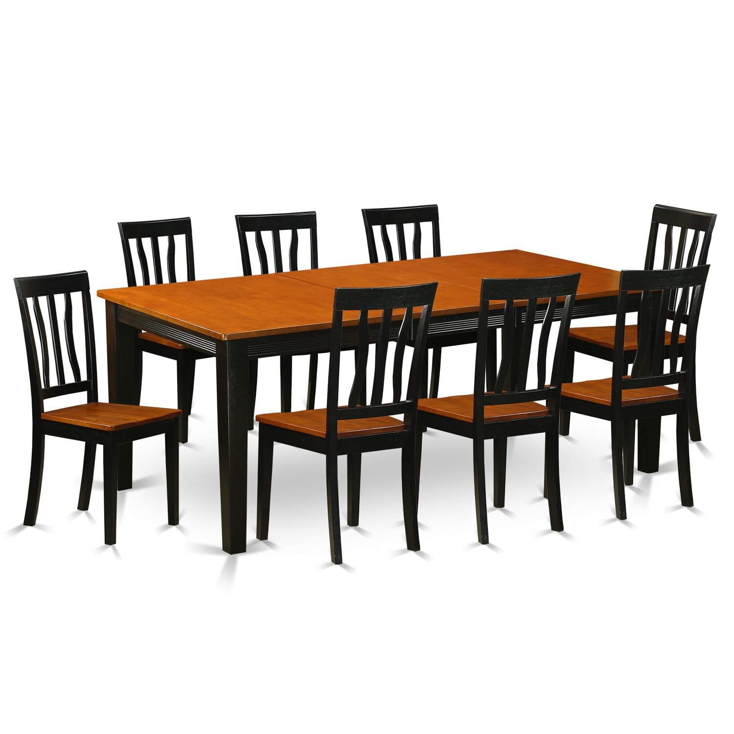 Wooden importers quincy 9 piece dining set wayfair for 9 pc dining room table sets
