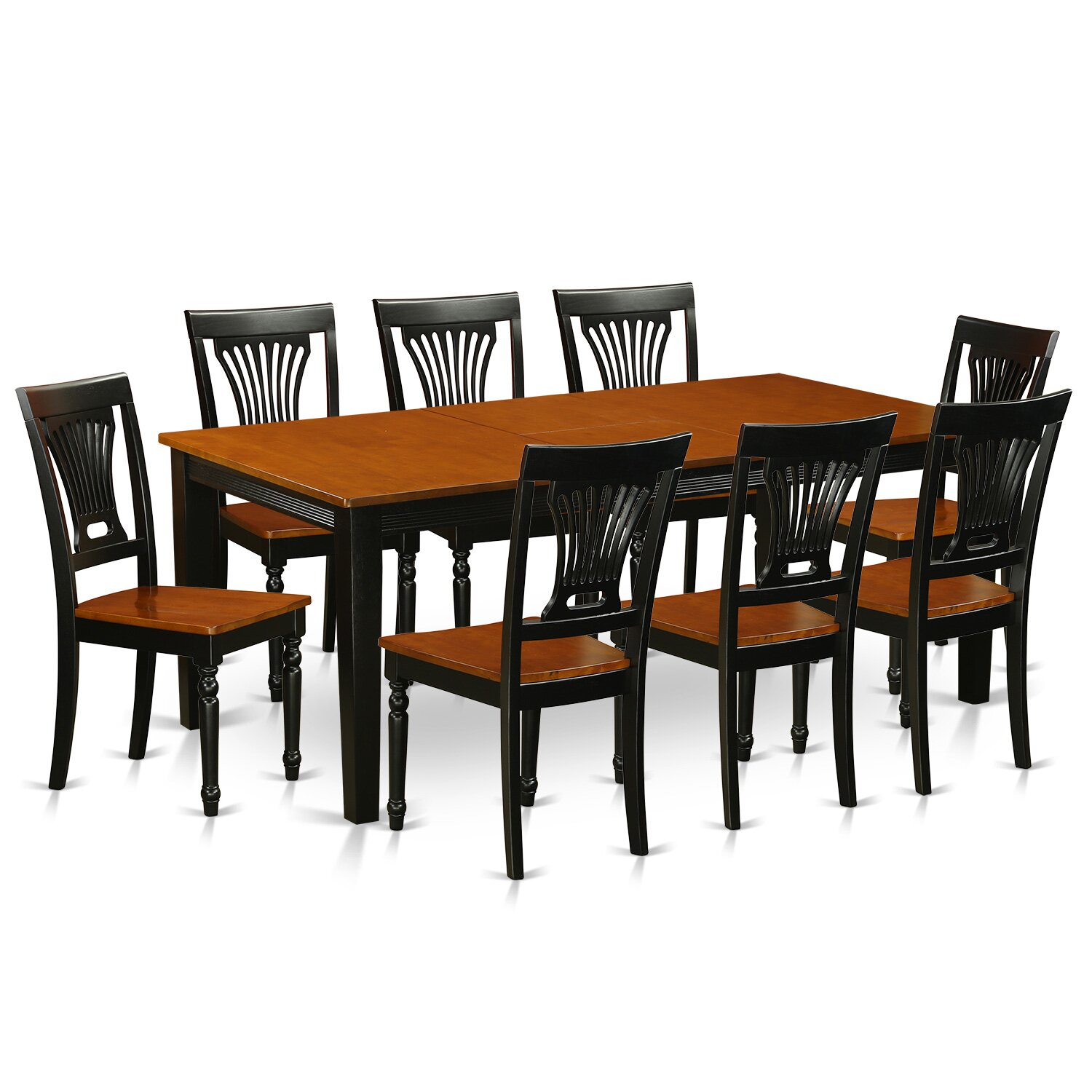 Wooden importers quincy 9 piece dining set wayfair for Wood dining room furniture