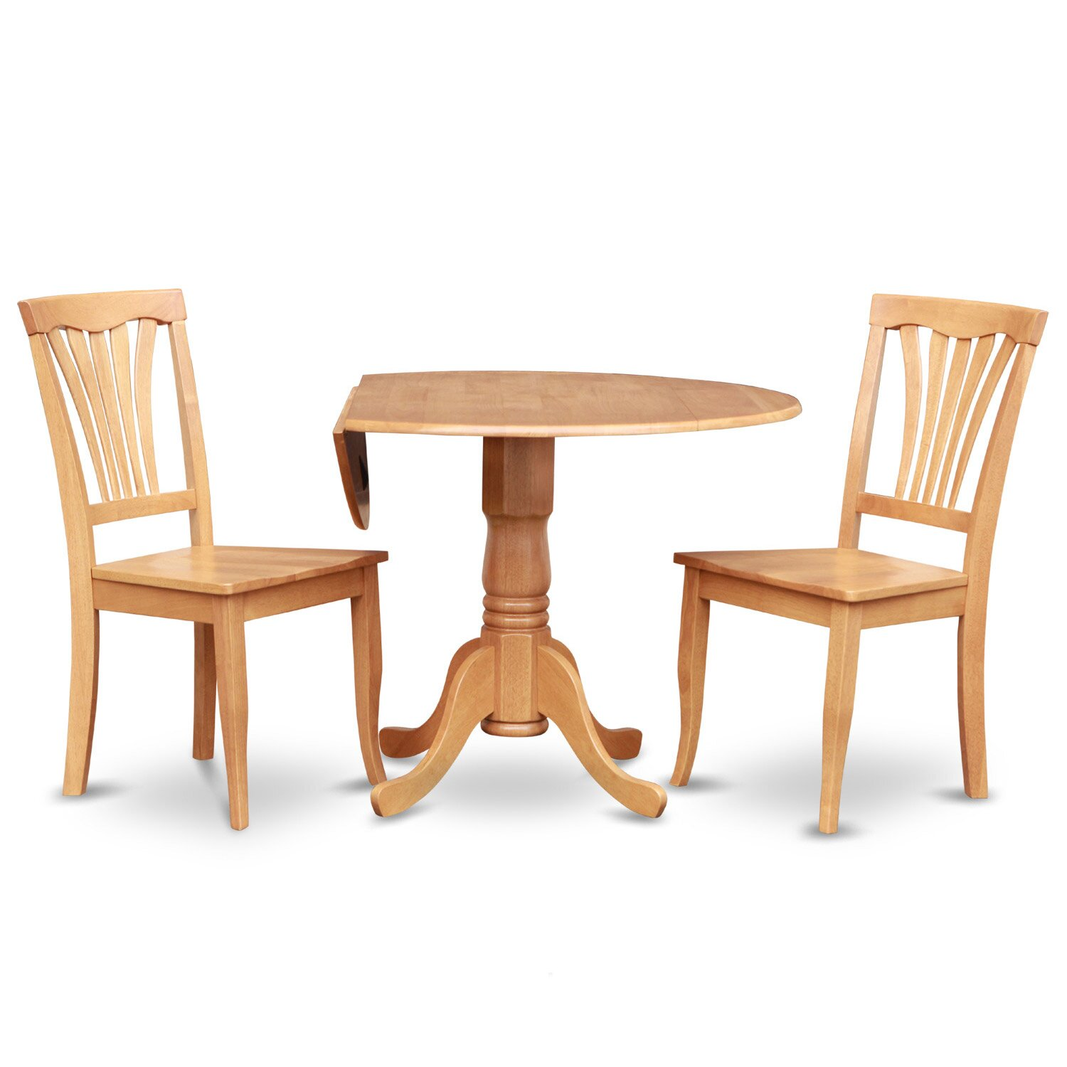 Wooden importers dublin 3 piece dining set reviews wayfair for Small dining room table and two chairs