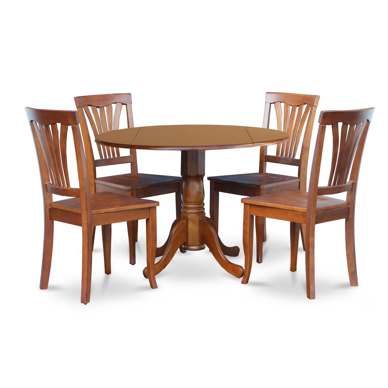 wooden importers dublin 5 piece dining set wayfair. Black Bedroom Furniture Sets. Home Design Ideas