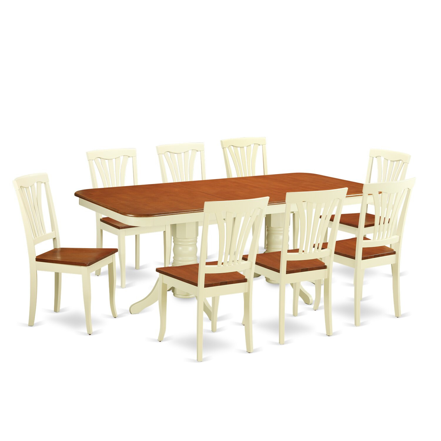 Wooden importers napoleon 9 piece dining set for Dining room tables 9 piece
