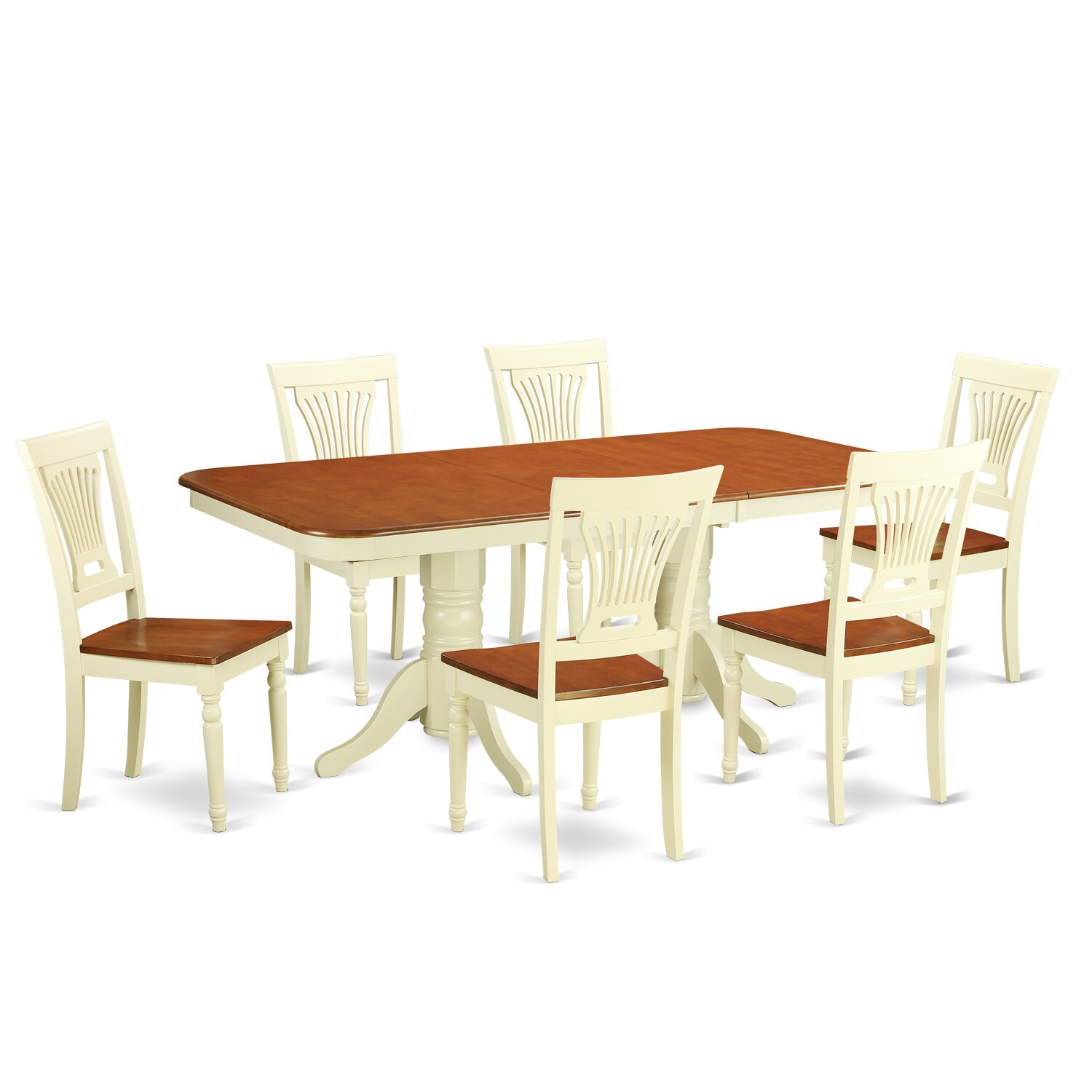 PC Dining Set Dining Table And 6 Dining Chairs For Dining NAPL7 WHI . Full resolution‎  image, nominally Width 1500 Height 1500 pixels, image with #4E260E.