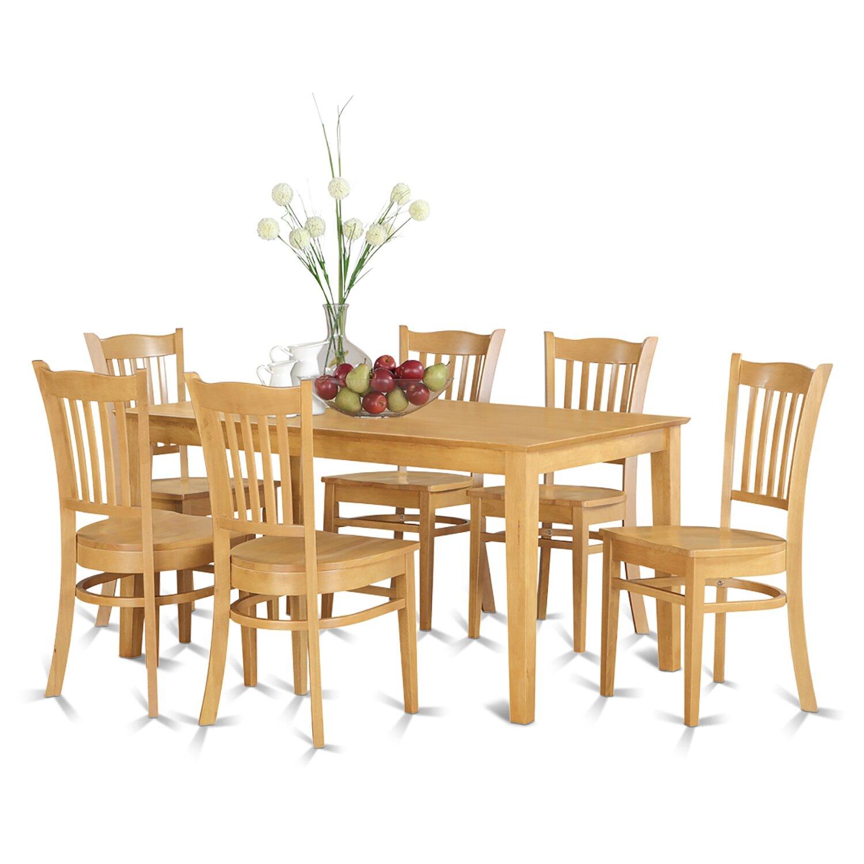 Wooden Importers Avon 7 Piece Dining Set: Wooden Importers Capri 7 Piece Dining Set & Reviews