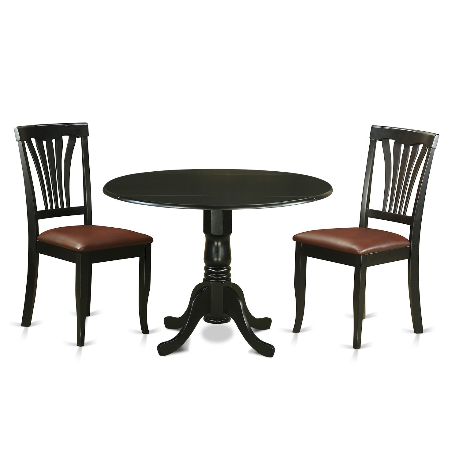 Wooden importers dublin 3 piece dining set wayfair for 3 piece dining room table