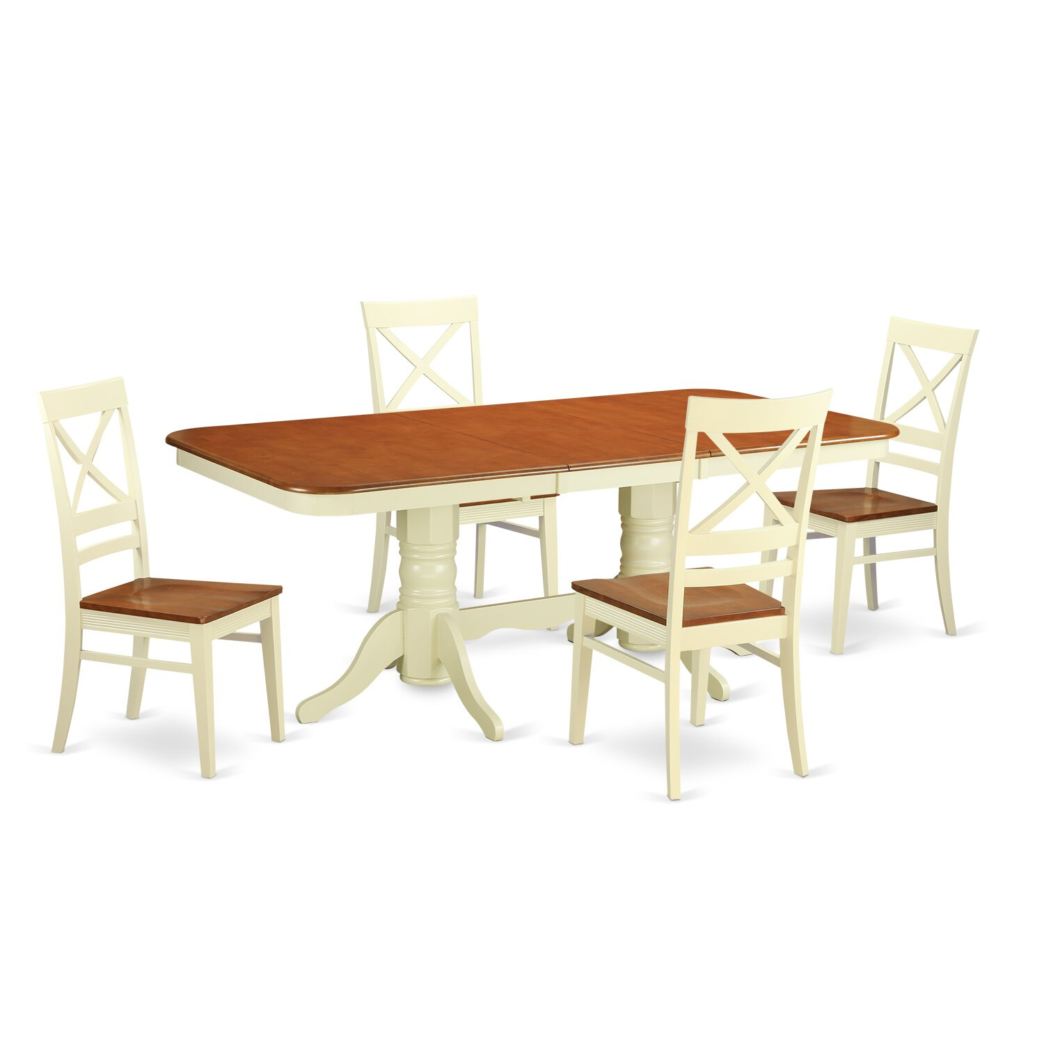 Wooden importers napoleon 5 piece dining set wayfair for Kitchen dining table chairs