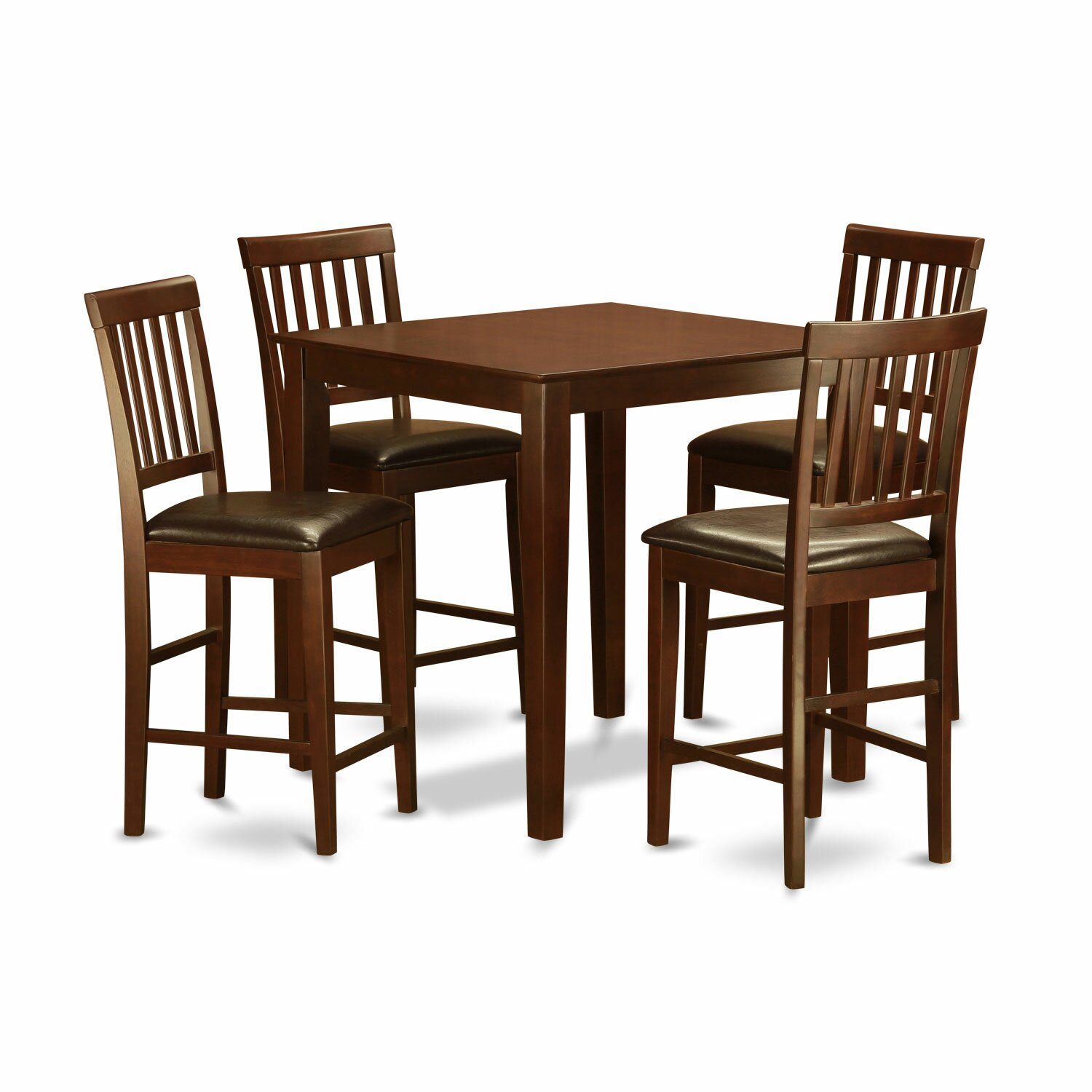 Wood Pub Set ~ Wooden importers piece counter height pub table set