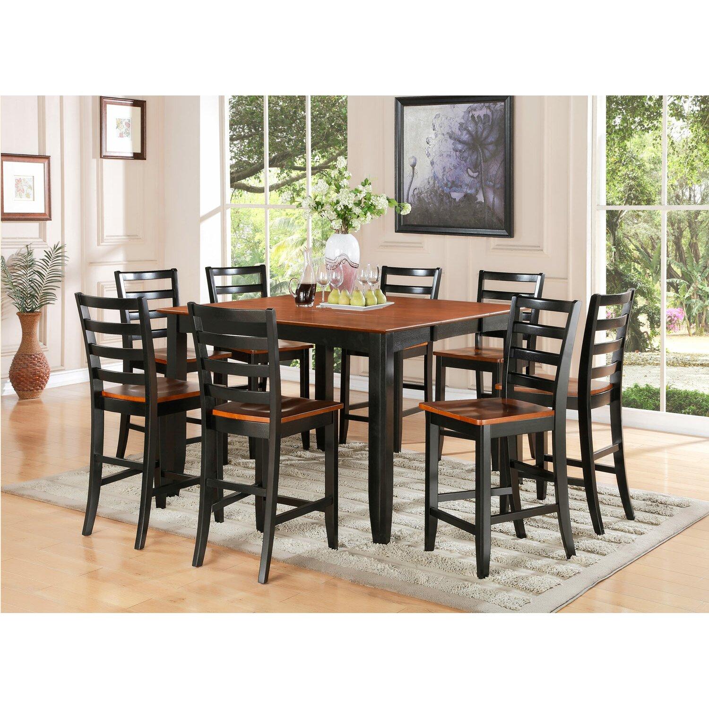 Wooden Importers Lynfield 6 Piece Dining Set: Wooden Importers Parfait 9 Piece Counter Height Dining Set