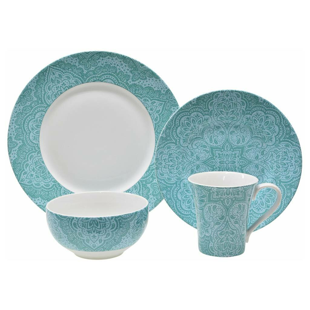 222 fifth augustina 16 piece dinnerware set wayfair for 222 fifth dinnerware