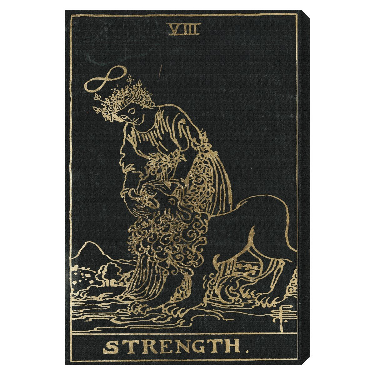 black kitchen cabinets pictures oliver gal the cabinet strength tarot graphic on 12391