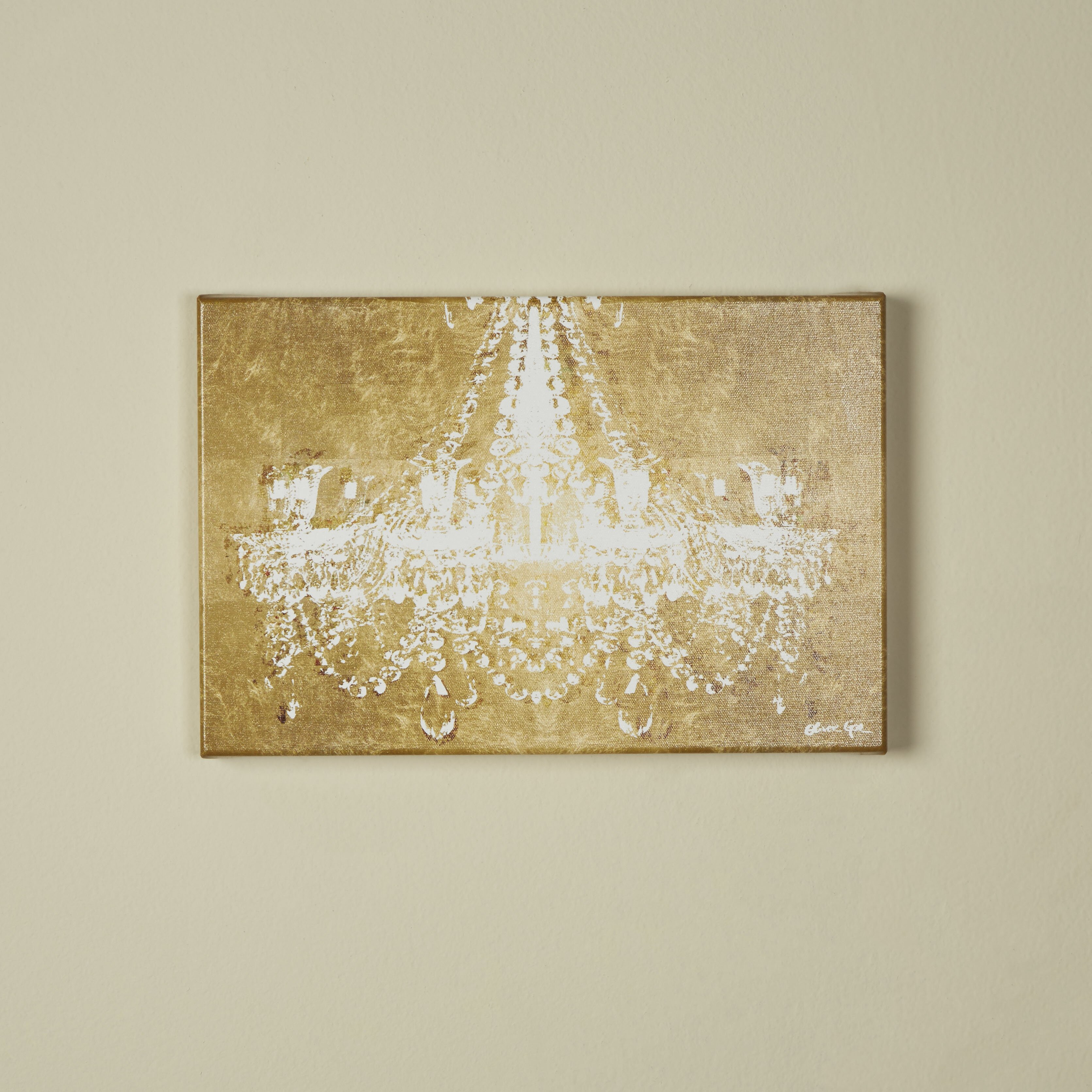 Oliver gal dramatic entrance gold graphic art on wrapped for Gold paintings on canvas