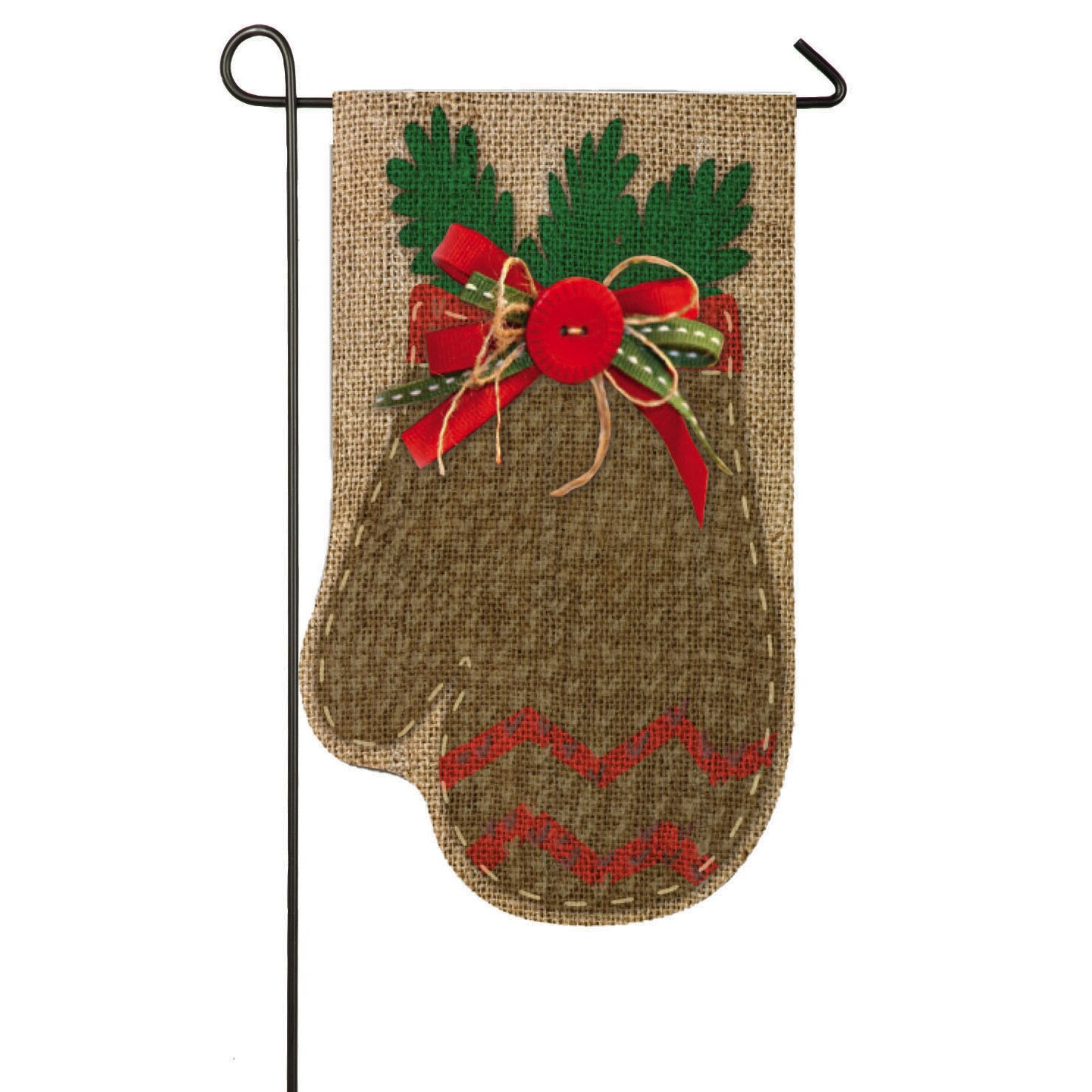 Evergreen Flag Amp Garden Chevron Mitten Garden Flag