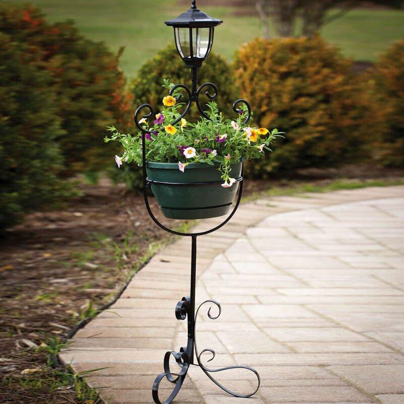Professional Solar Pedestal Light: Evergreen Flag & Garden Novelty Plant Stand & Reviews