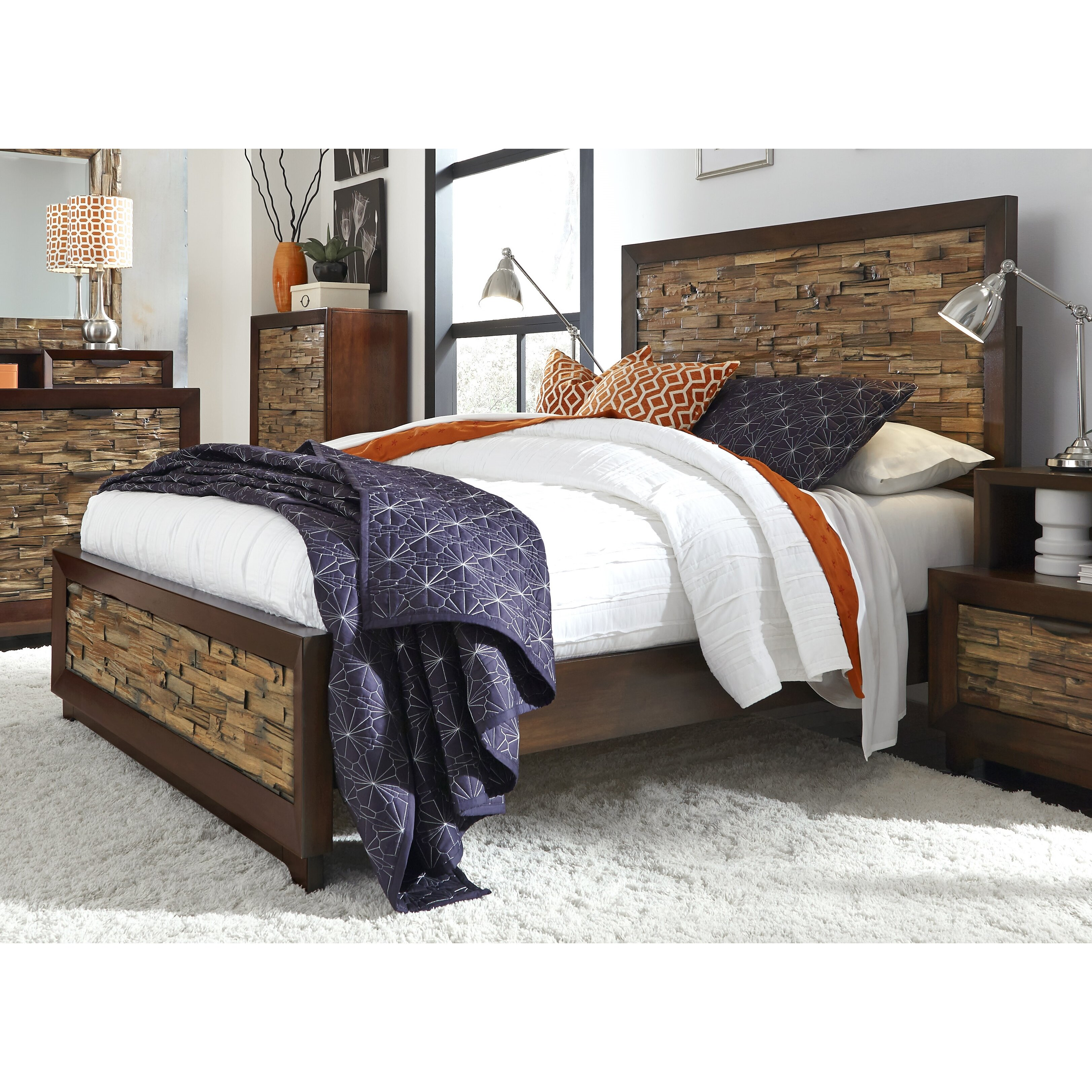 Progressive Furniture Bali Panel Customizable Bedroom Set