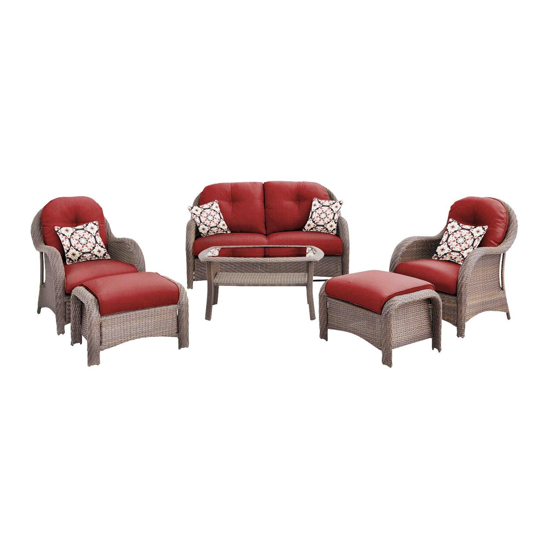 ... Piece Wicker Deep Seating Group with Cushions & Reviews | Wayfair