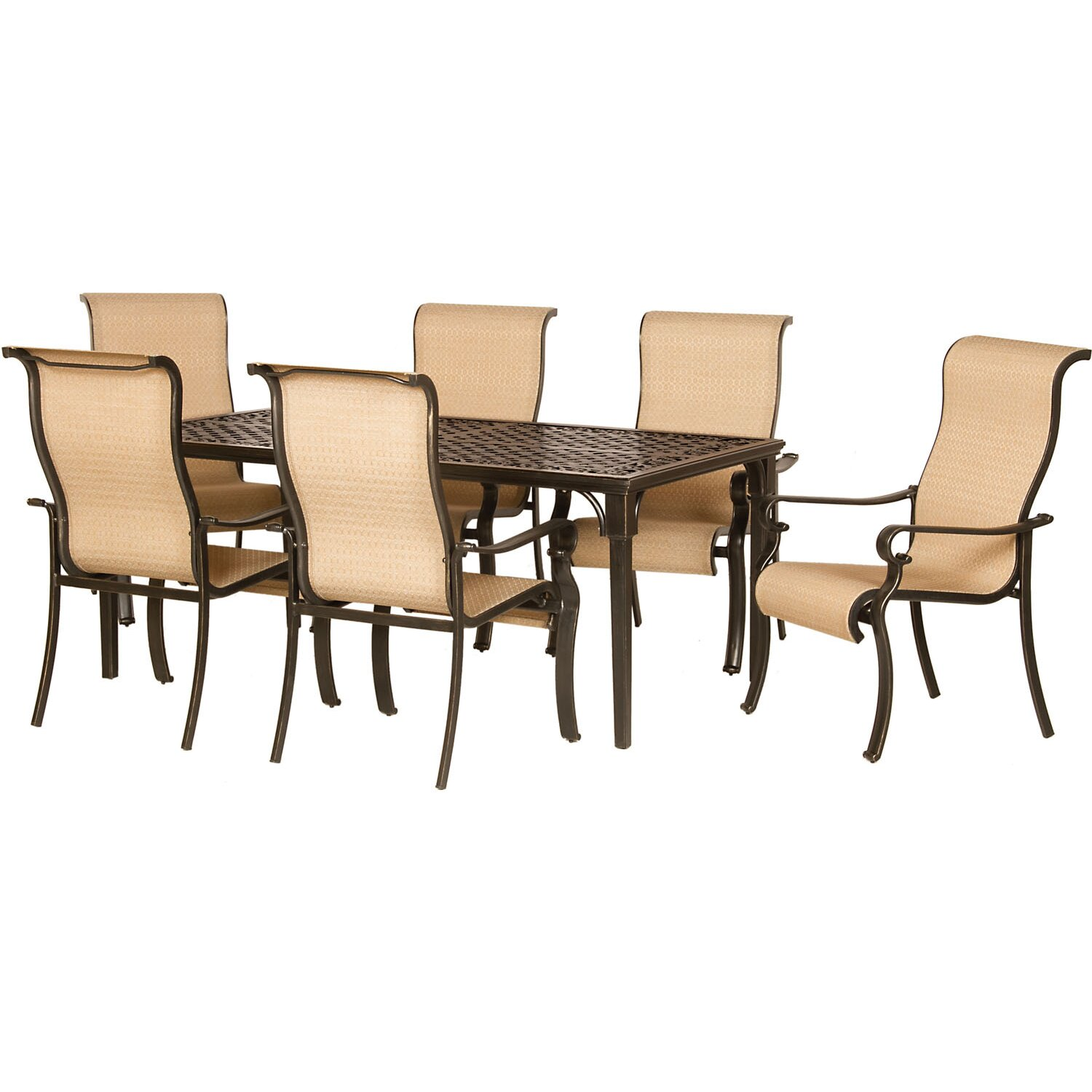 Hanover brigantine 7 piece outdoor dining set reviews for 7 piece dining set