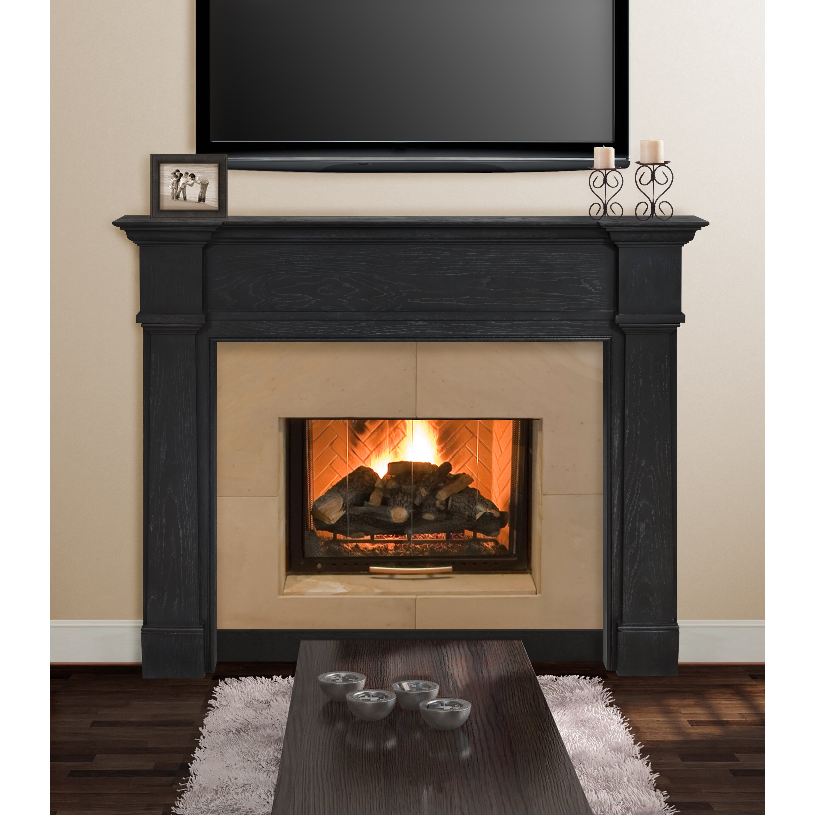 Pearl mantels avondale fireplace mantel surround reviews wayfair - Mantelpieces fireplaces ...