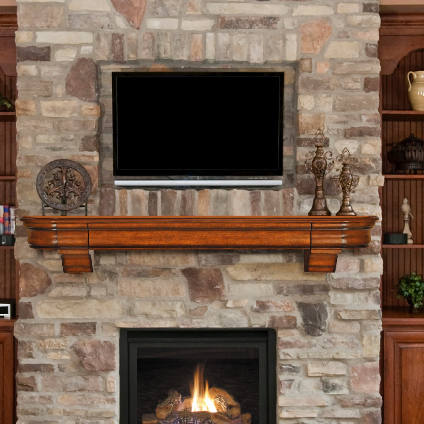 pearl mantels abingdon mantel shelf reviews wayfair. Black Bedroom Furniture Sets. Home Design Ideas