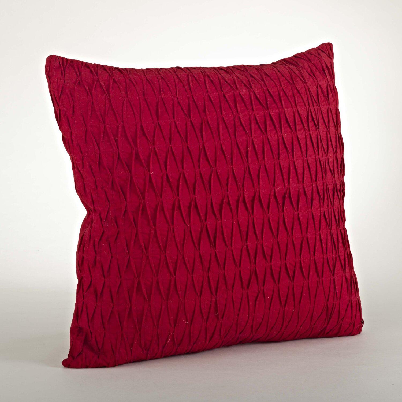 Saro Malawi Diamond Pleated Cotton Throw Pillow & Reviews Wayfair