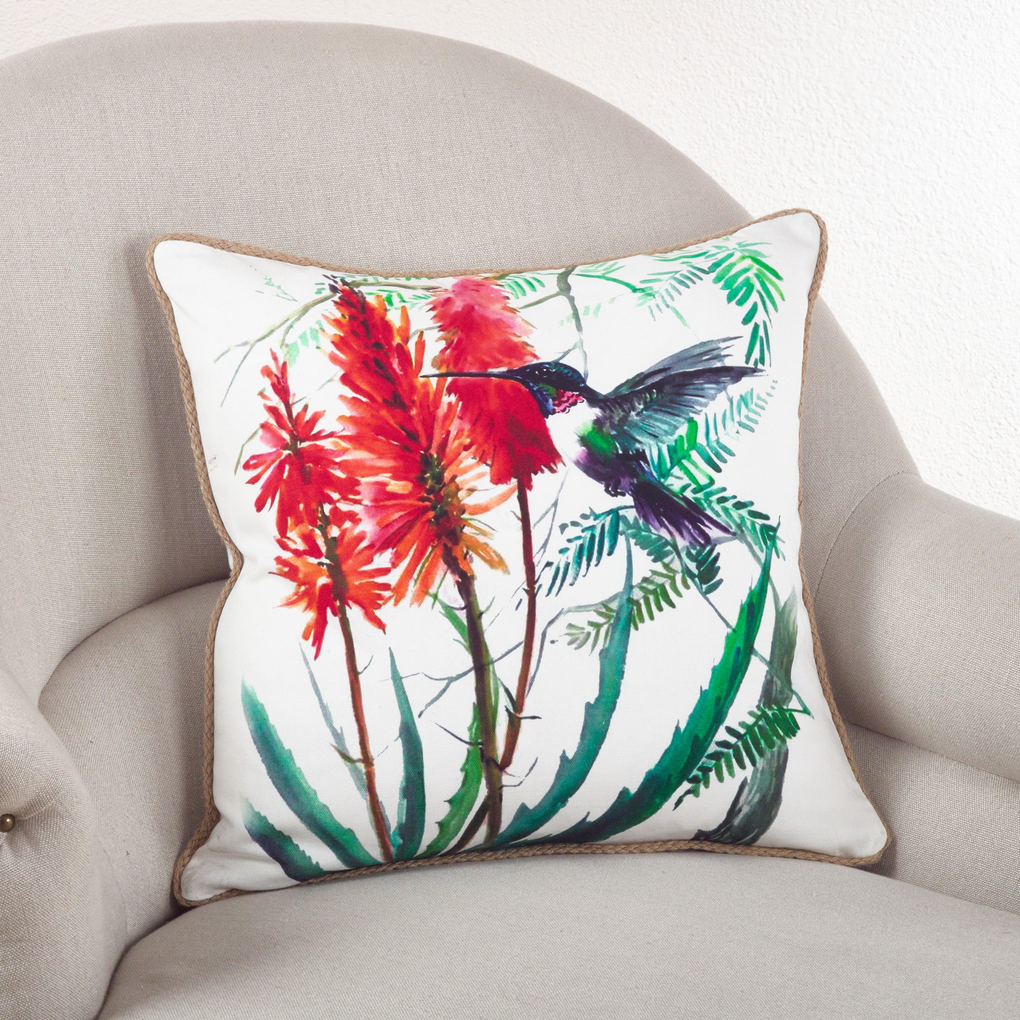 Saro Hummingbird Down Filled Throw Pillow Wayfair
