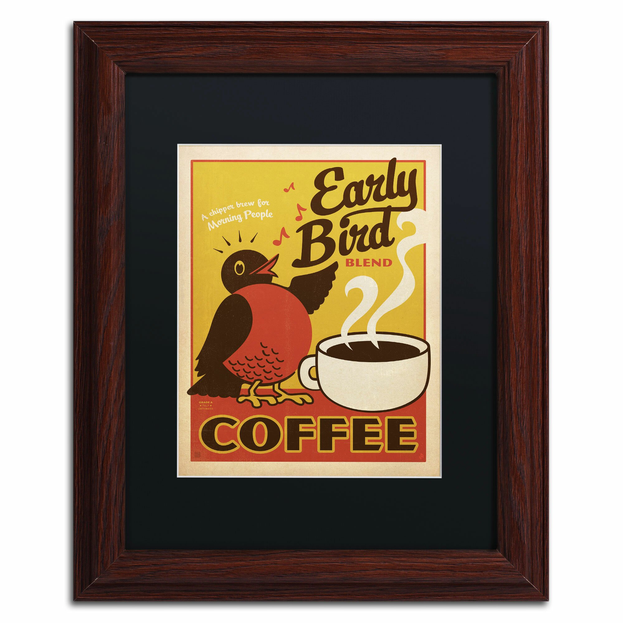 Trademark Art 'Early Bird Blend Coffee' By Anderson Design