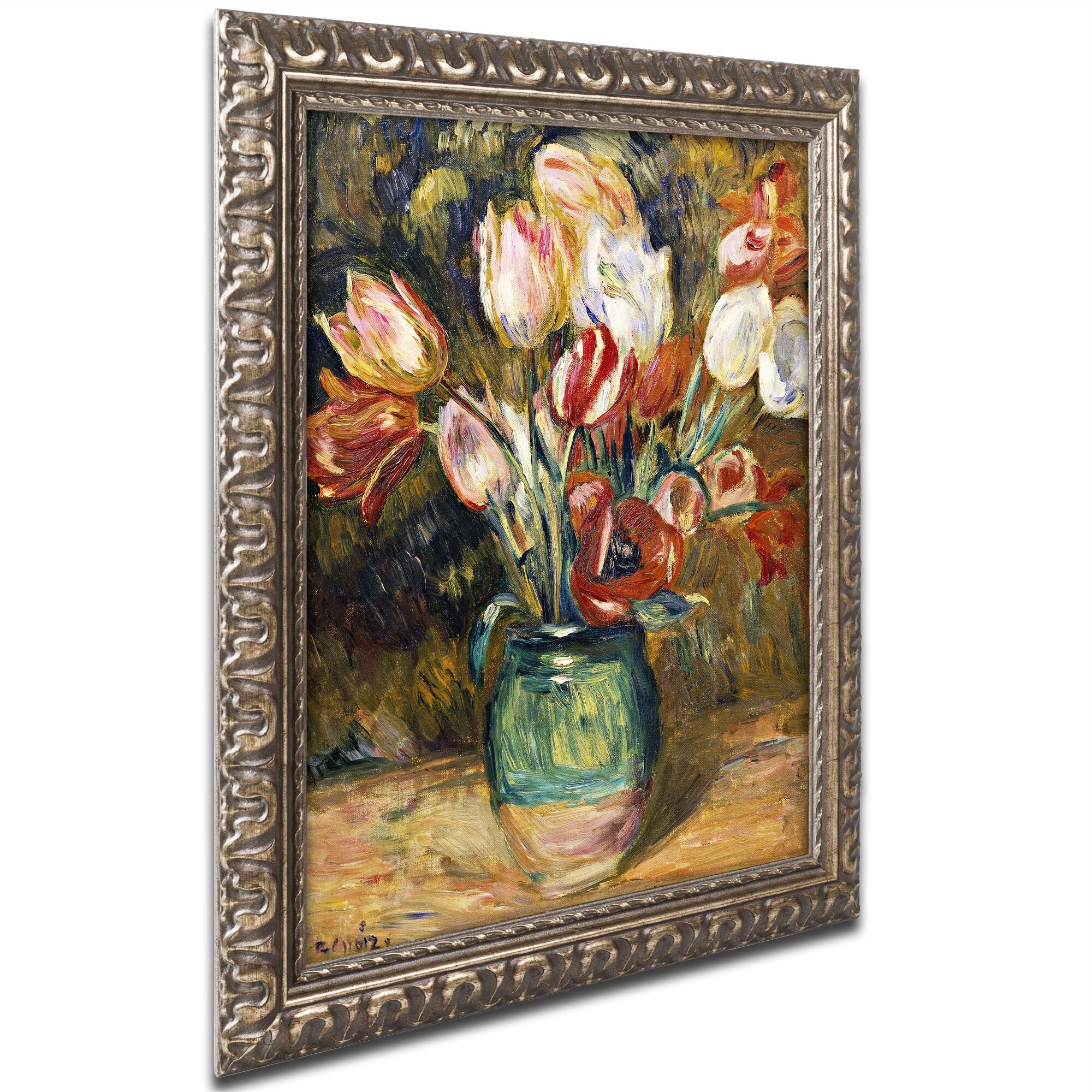 trademark art vase de fleurs 1888 89 by pierre auguste renoir framed painting print reviews. Black Bedroom Furniture Sets. Home Design Ideas