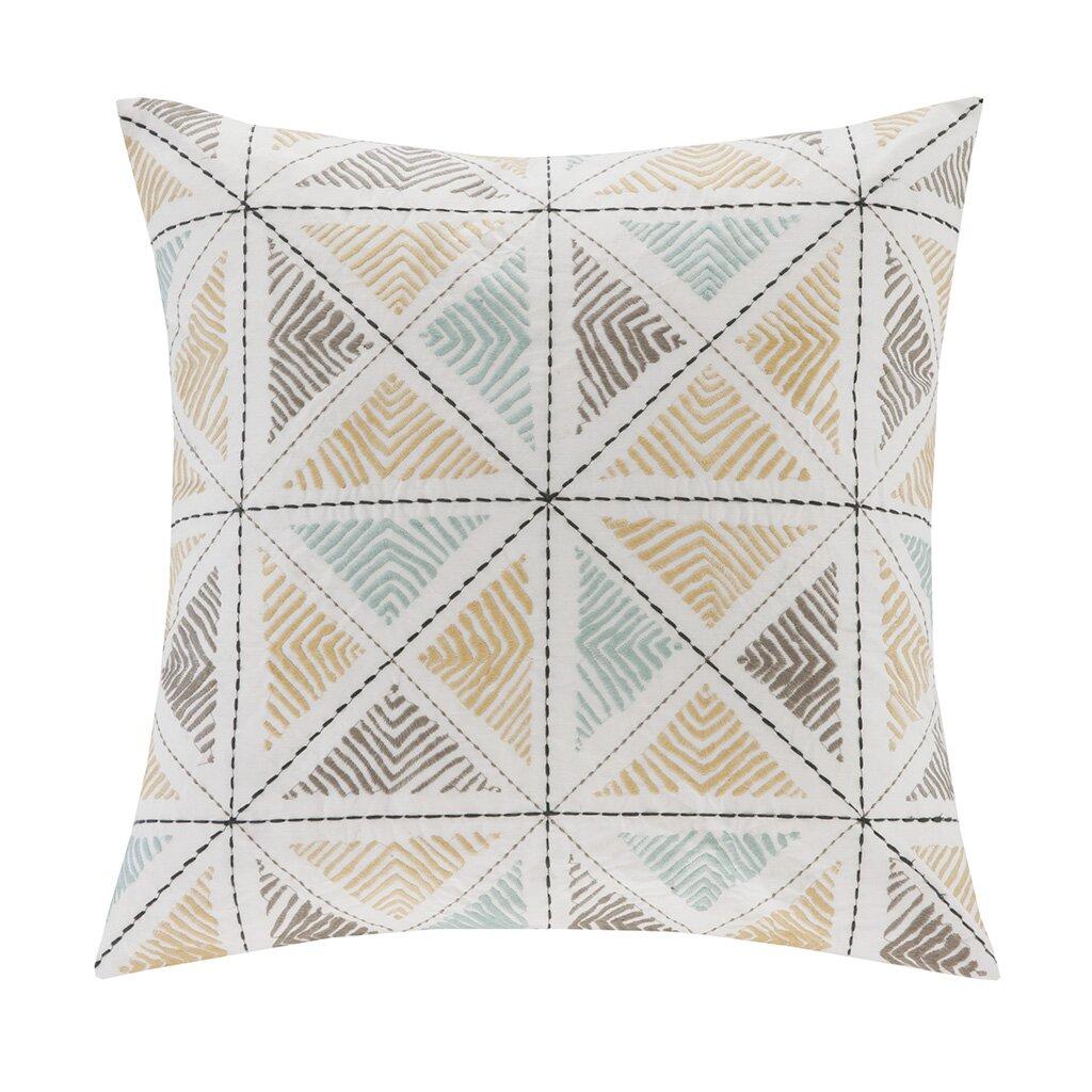Ink + Ivy Zelda Embroidered Cotton Throw Pillow & Reviews Wayfair