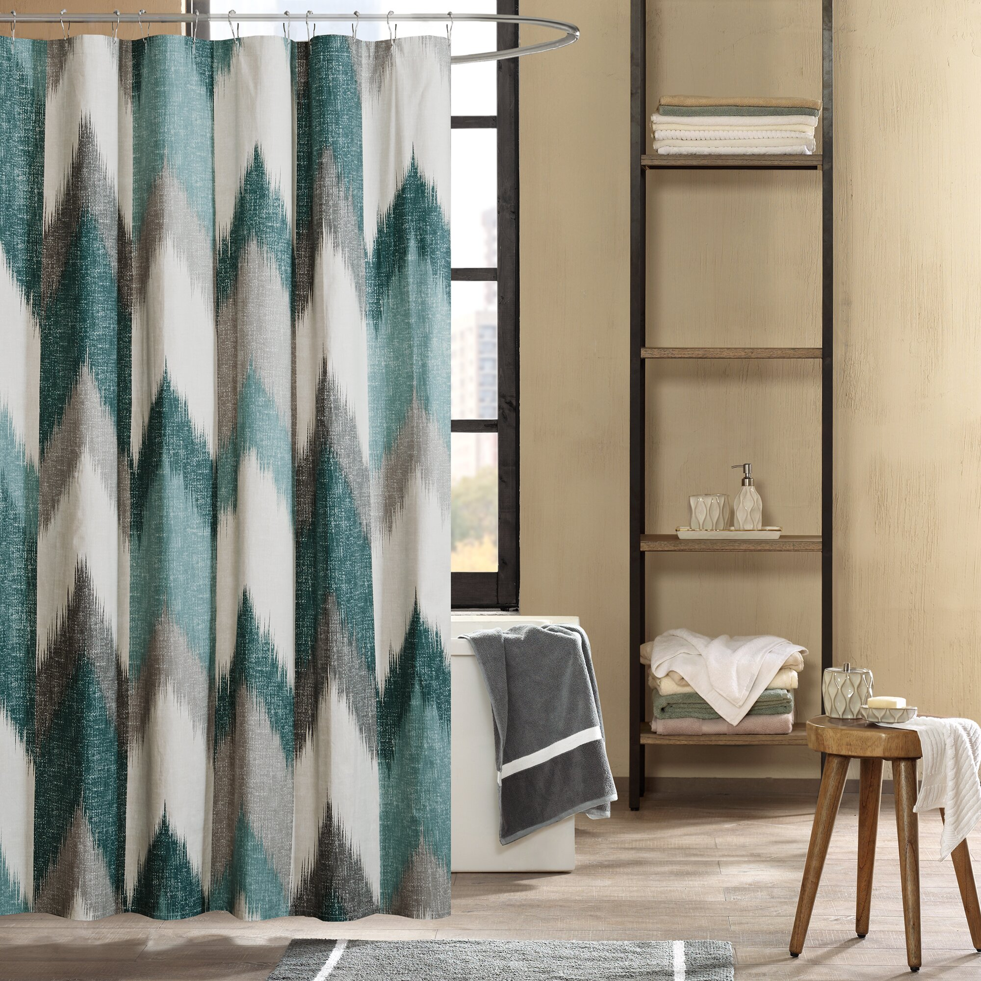 Ink Ivy Alpine Cotton Printed Shower Curtain Reviews