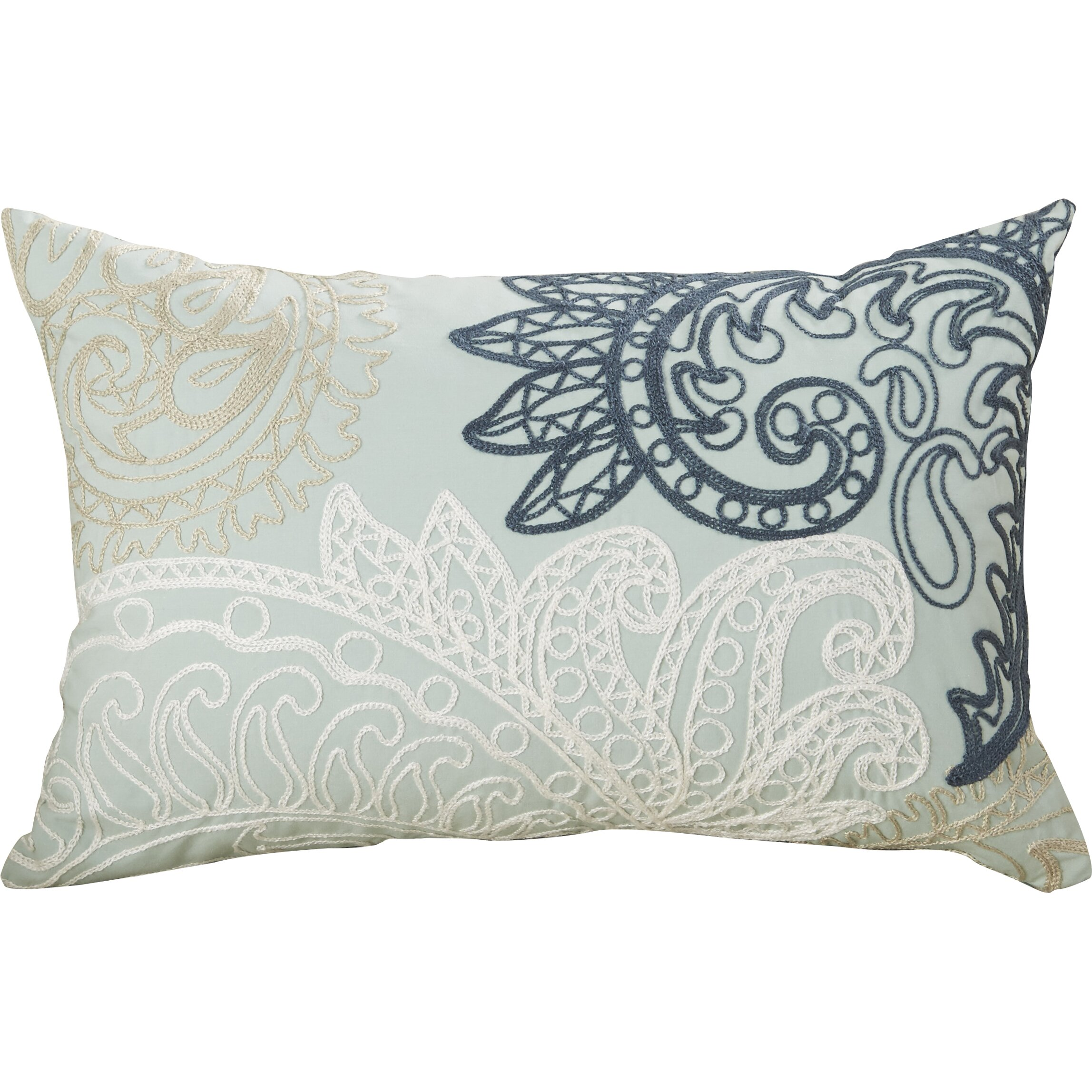 Ink + Ivy Kiran Embroidered Cotton Lumbar Throw Pillow & Reviews Wayfair.ca
