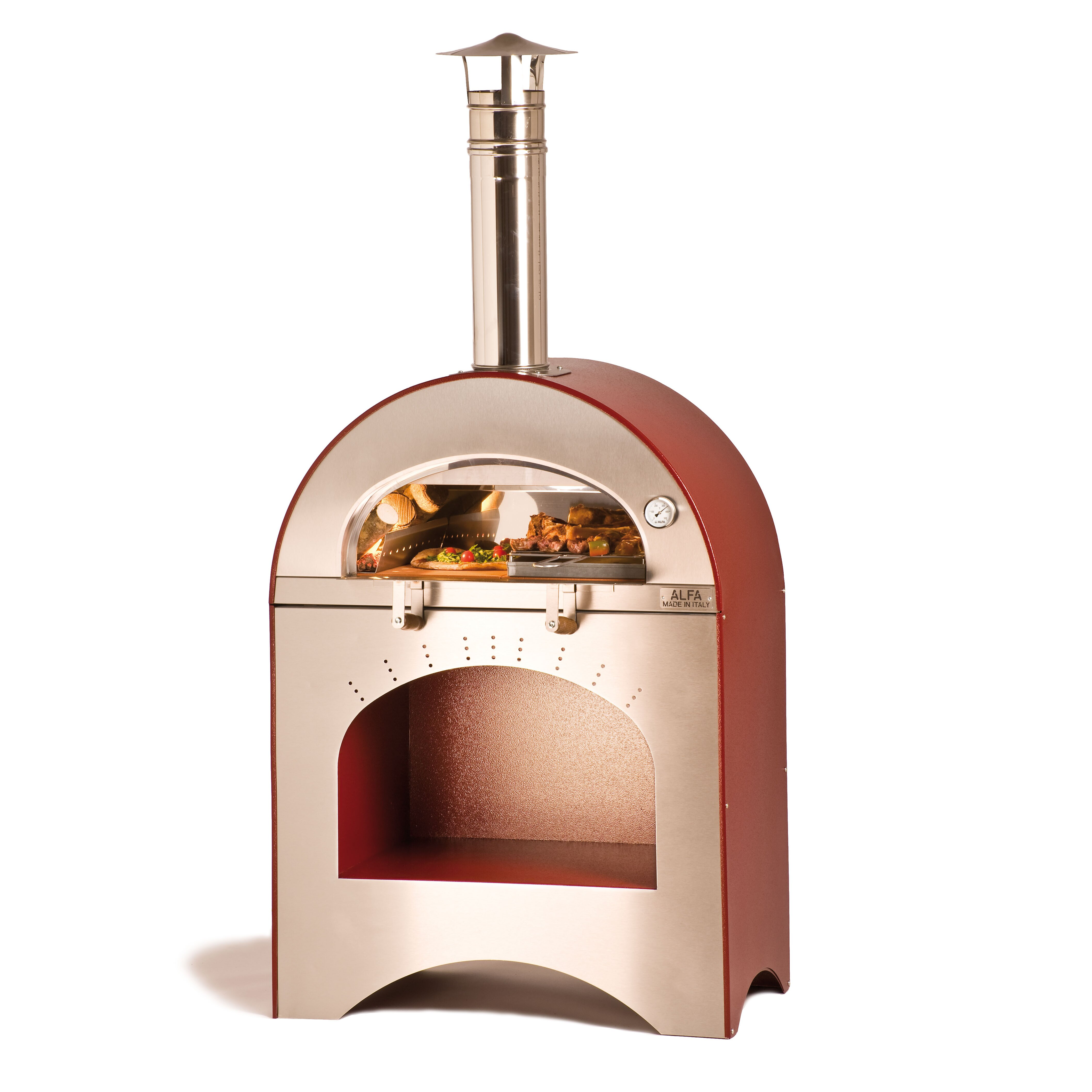 Alfa pizza forno pizza and brace wood burning pizza oven wayfair