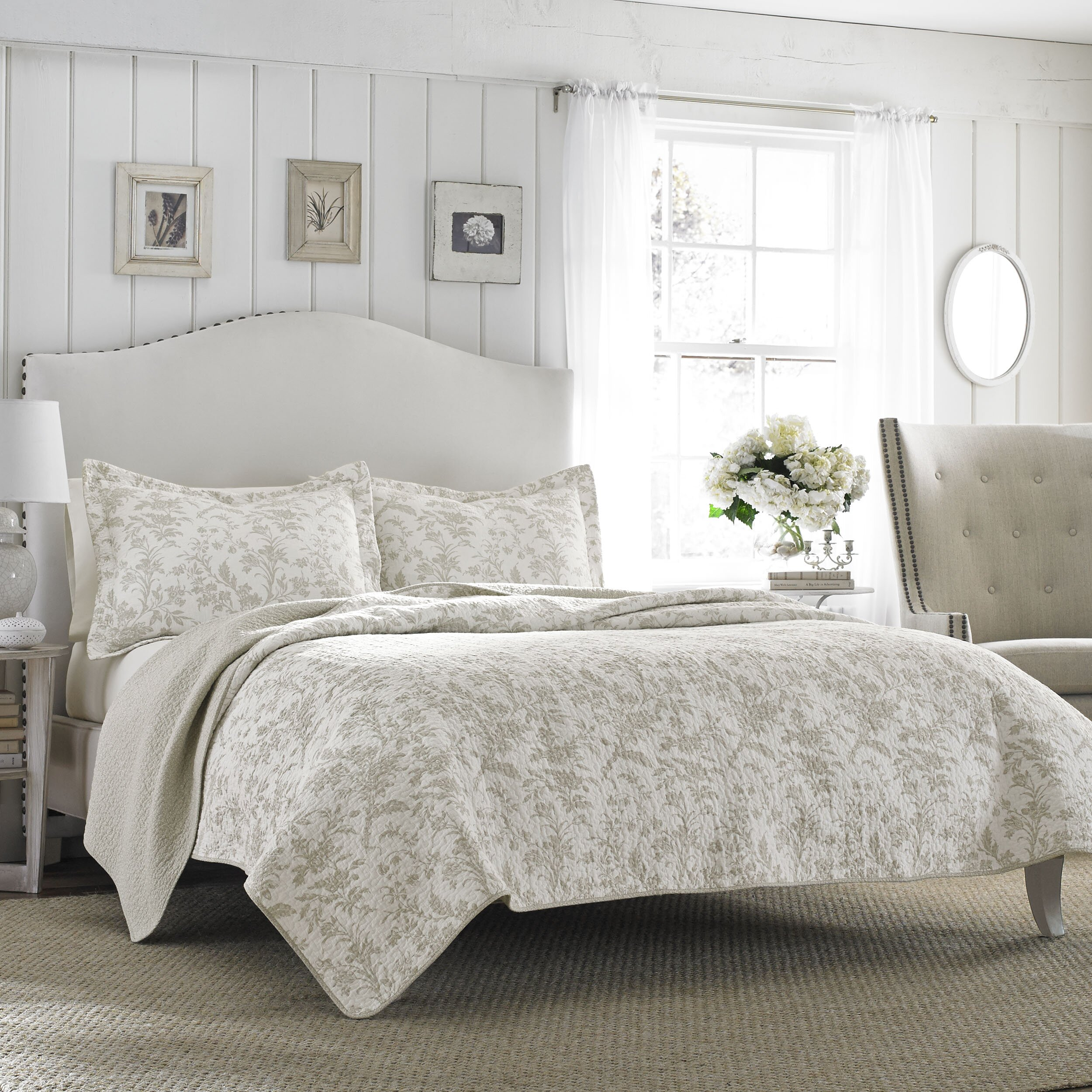 laura ashley home laura ashley riley quilt set reviews wayfair. Black Bedroom Furniture Sets. Home Design Ideas