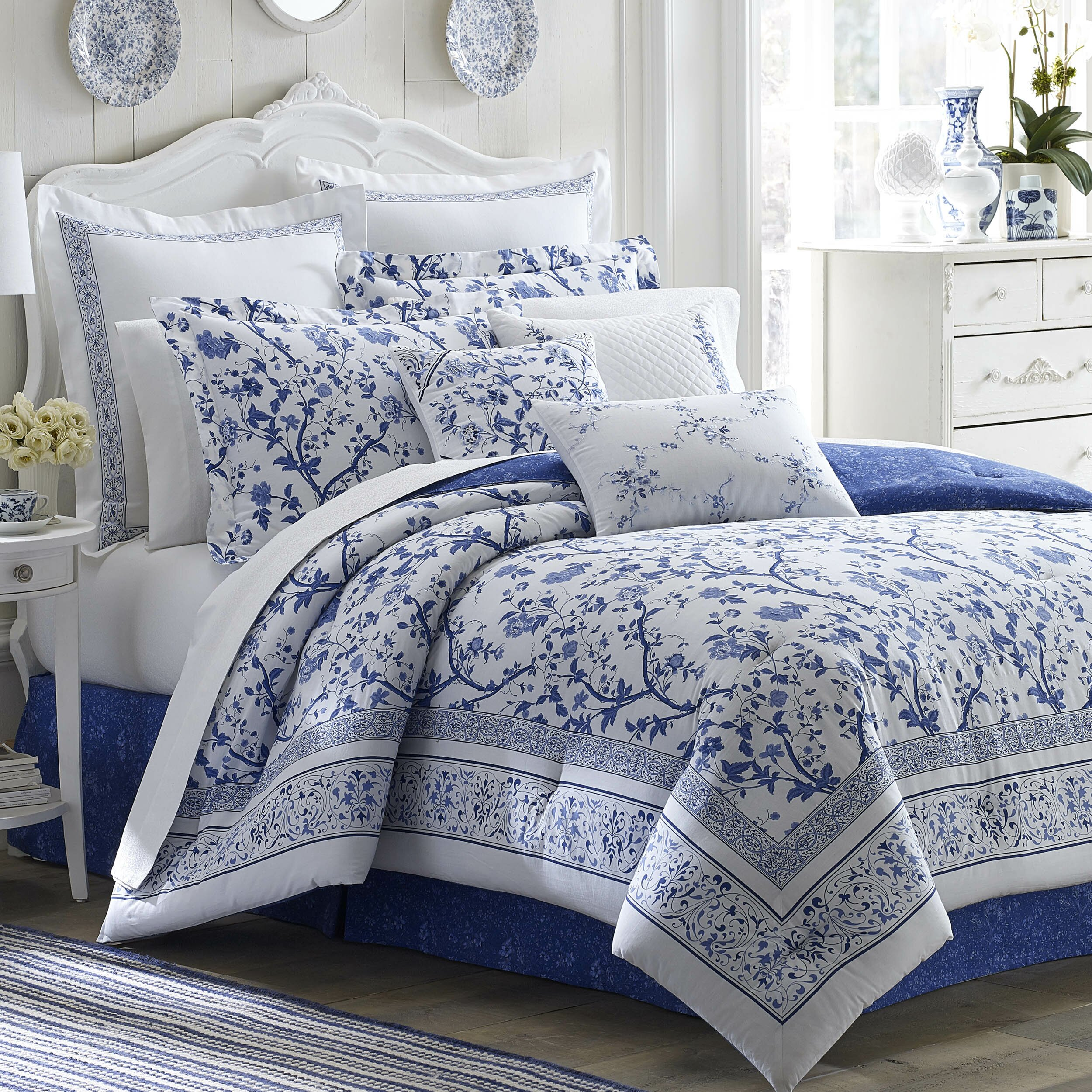 Laura Ashley Bedding Charlotte Comforter Collection